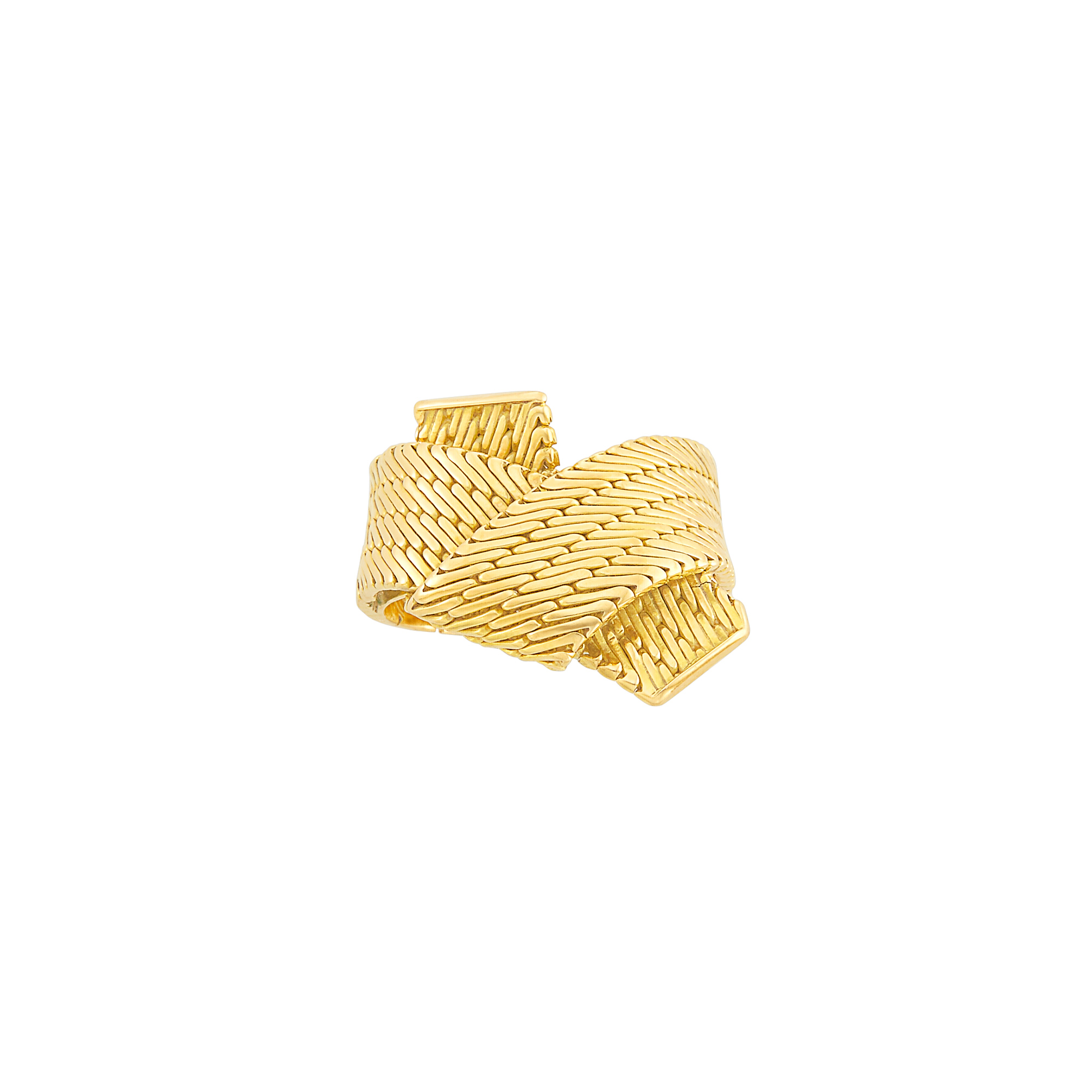 Lot image - Gold Scarf Ring, Hermès, Paris