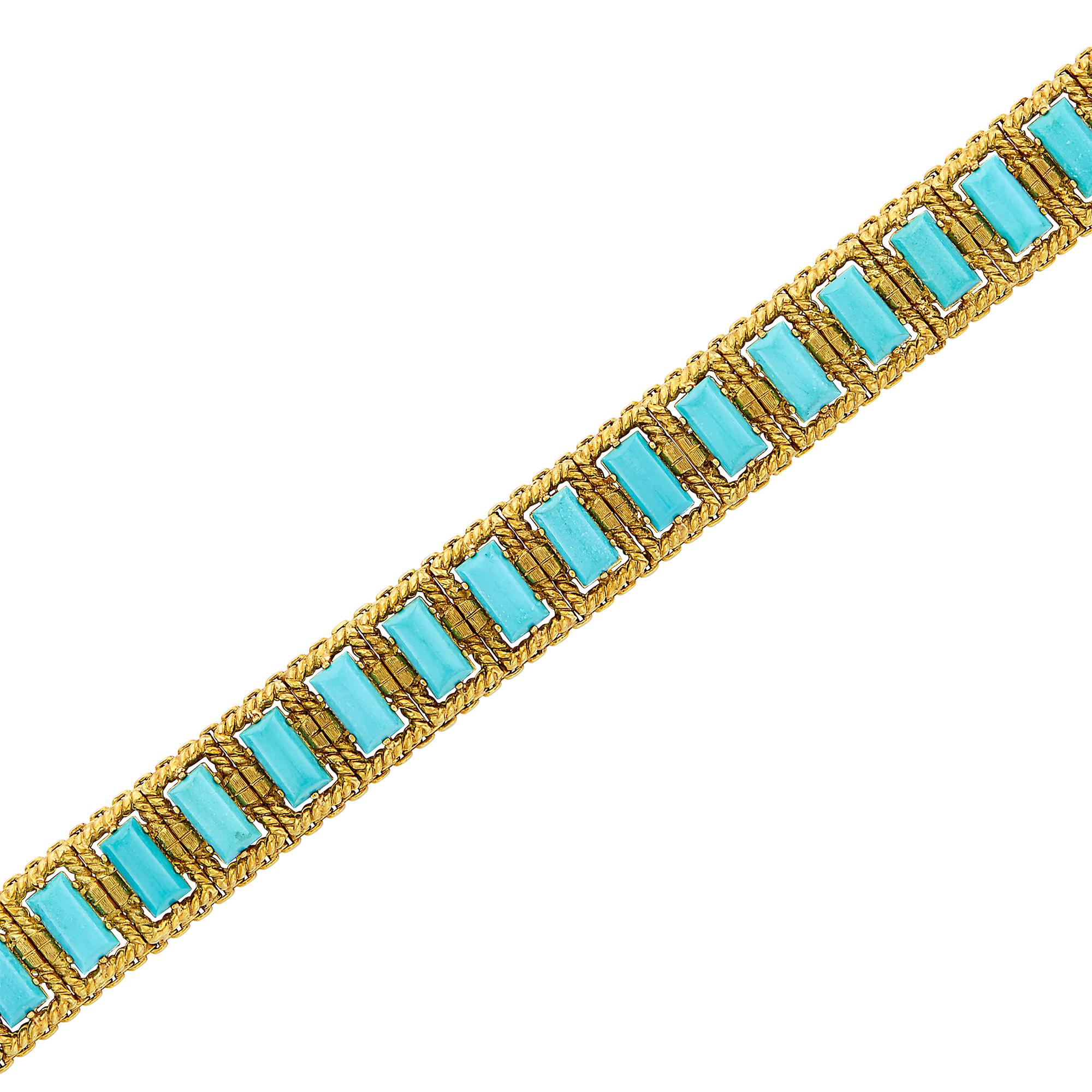 Lot image - Gold and Turquoise Bracelet
