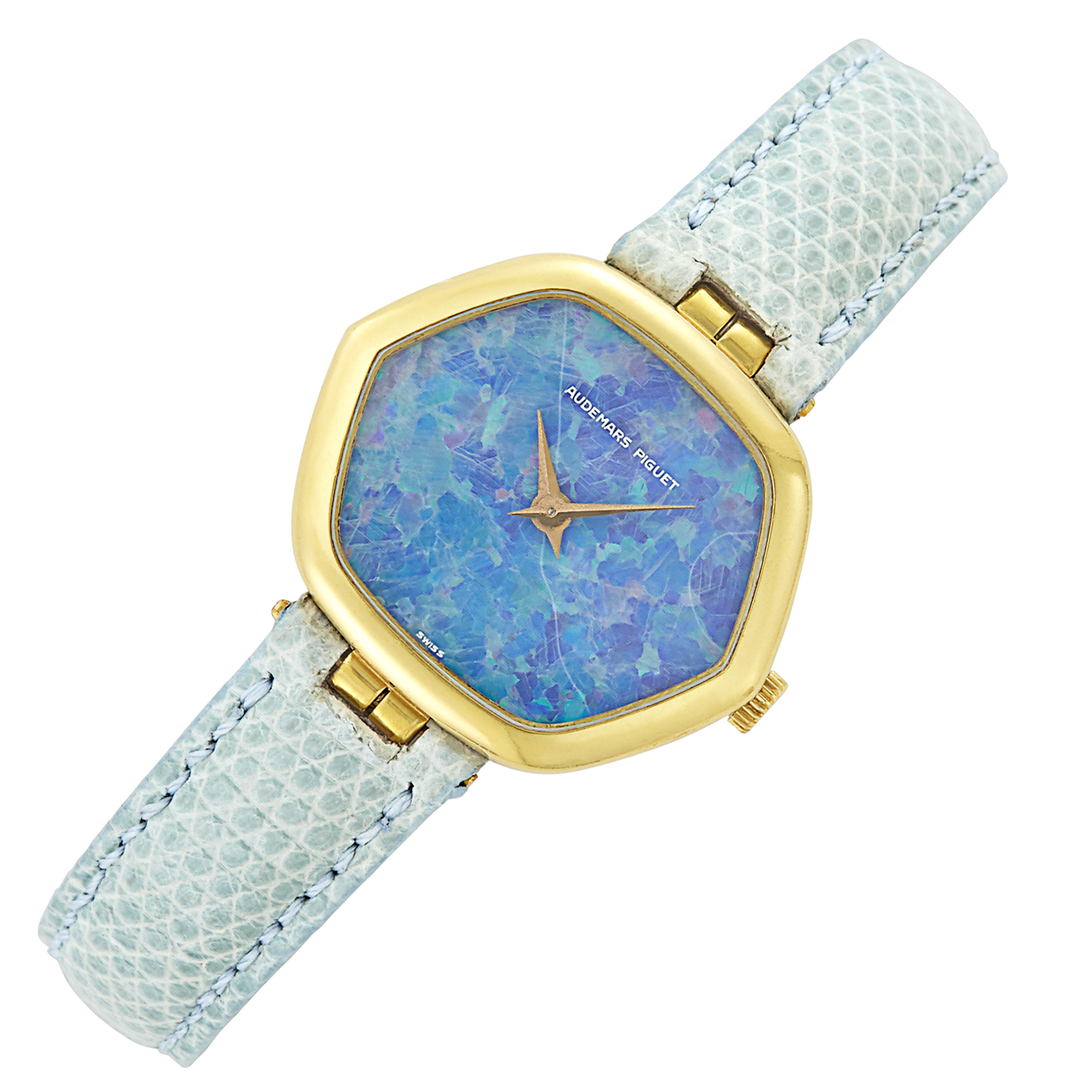 Lot image - Gold and Opal Wristwatch, Audemars Piguet