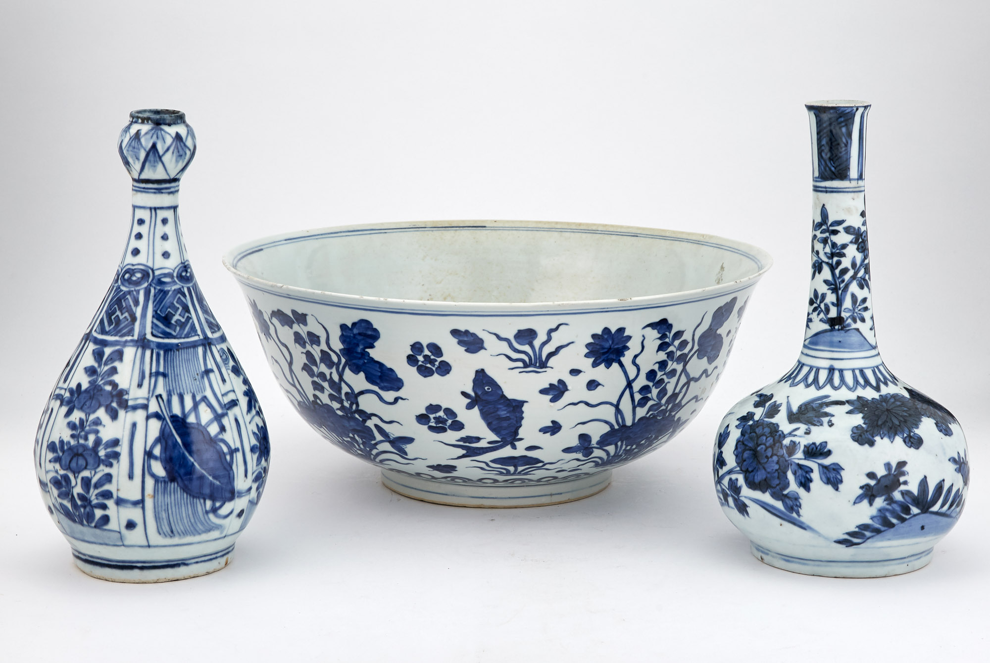 Lot image - Group of Chinese Blue and White Porcelain Articles