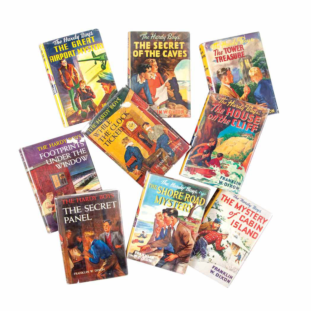 Lot image - [HARDY BOYS]  DIXON, FRANKLIN W.  Collection of approximately forty-five volumes of Hardy Boys Mysteries