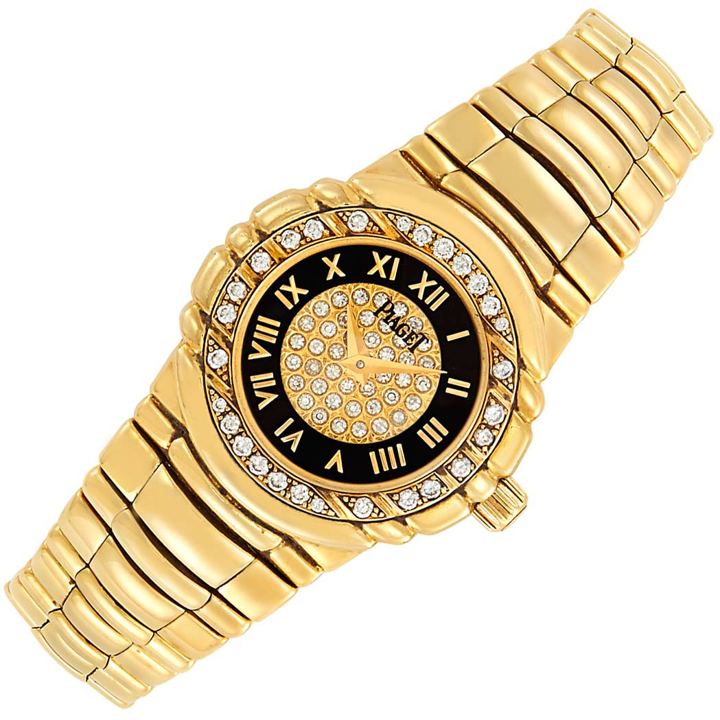 Lot image - Lady's Gold and Diamond 'Tanagra' Wristwatch, Piaget