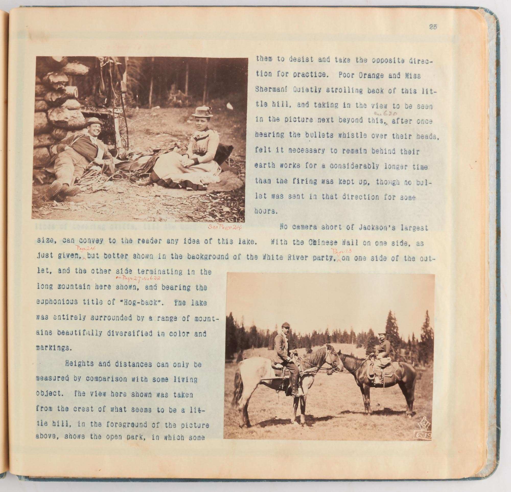 Lot image - [COLORADO]  Photographically illustrated journal describing an 1890 hunting trip to Colorado.
