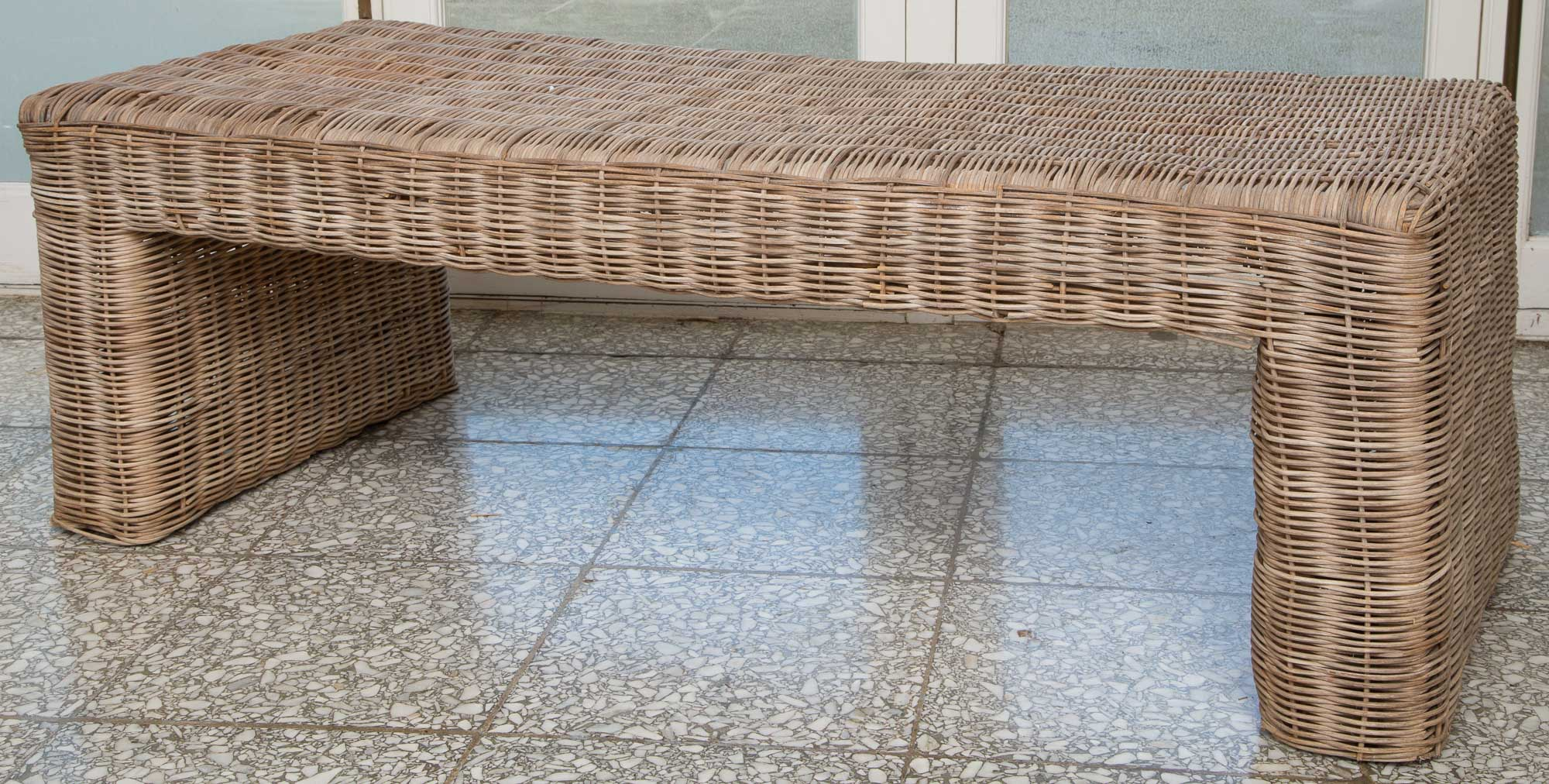 Lot image - Pair of Wicker Benches