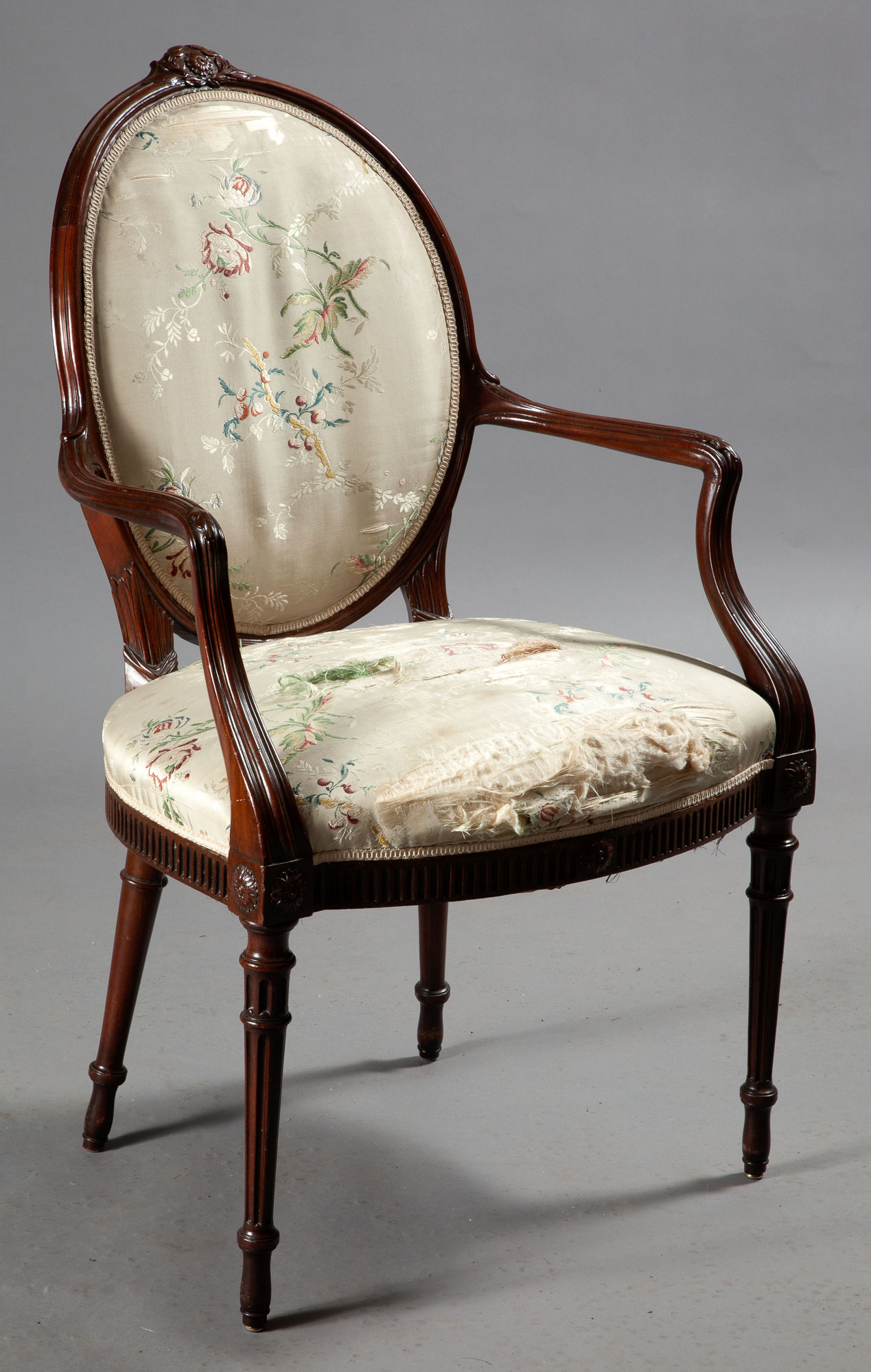 Lot image - George III Style Mahogany Open Armchair