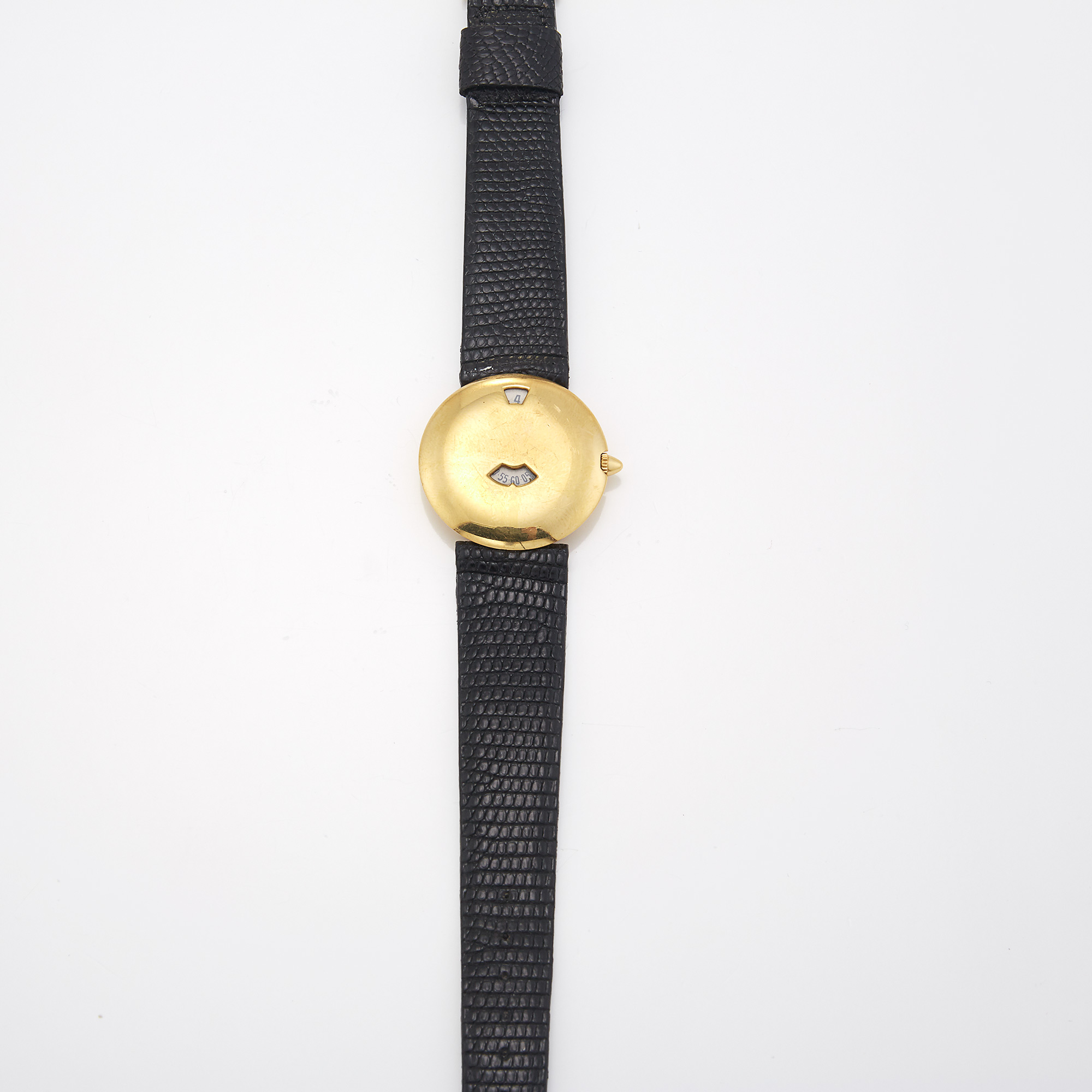 Lot image - Gold Jumping Hour Wristwatch, Chaumet, Paris