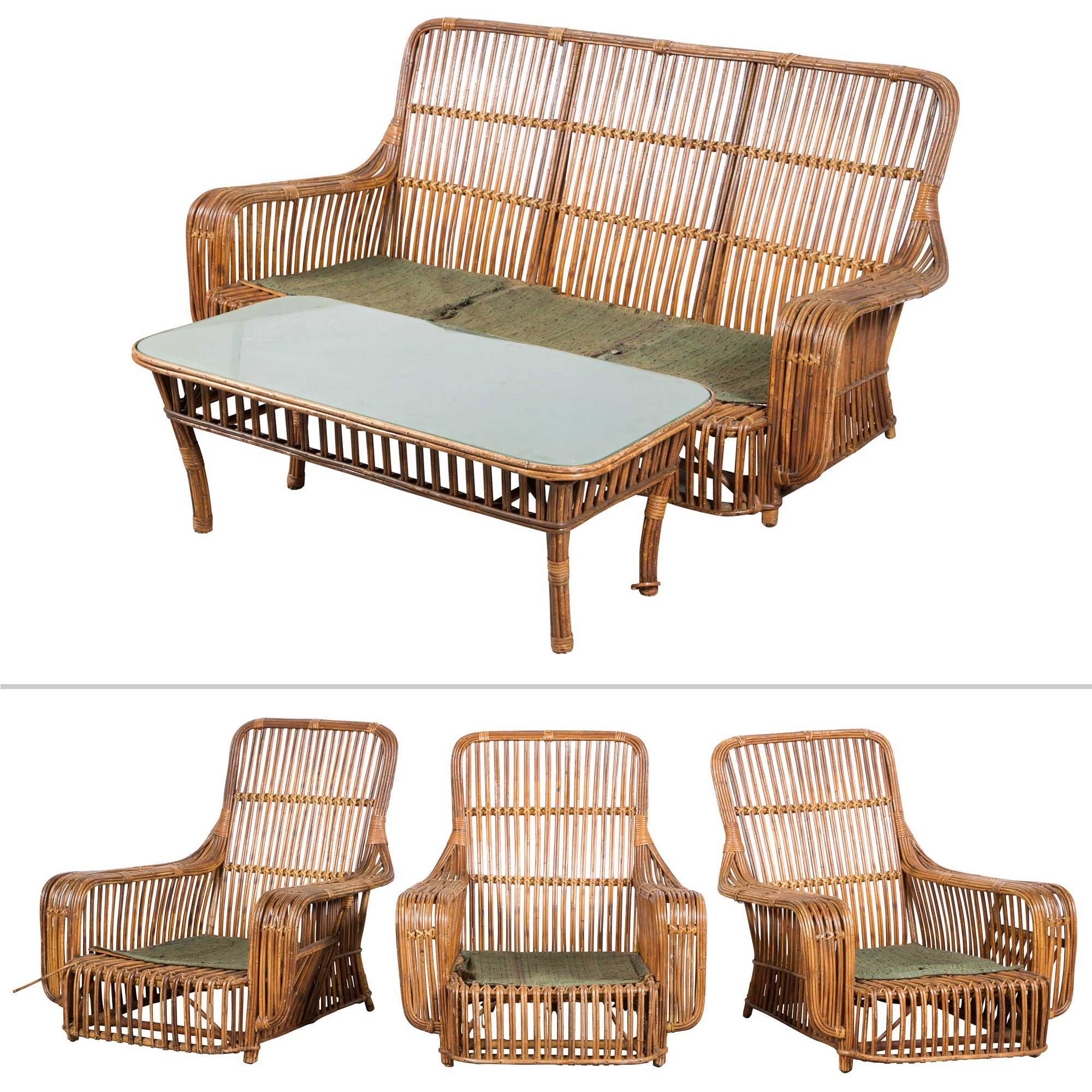 Lot image - Suite of Rattan Seating Furniture
