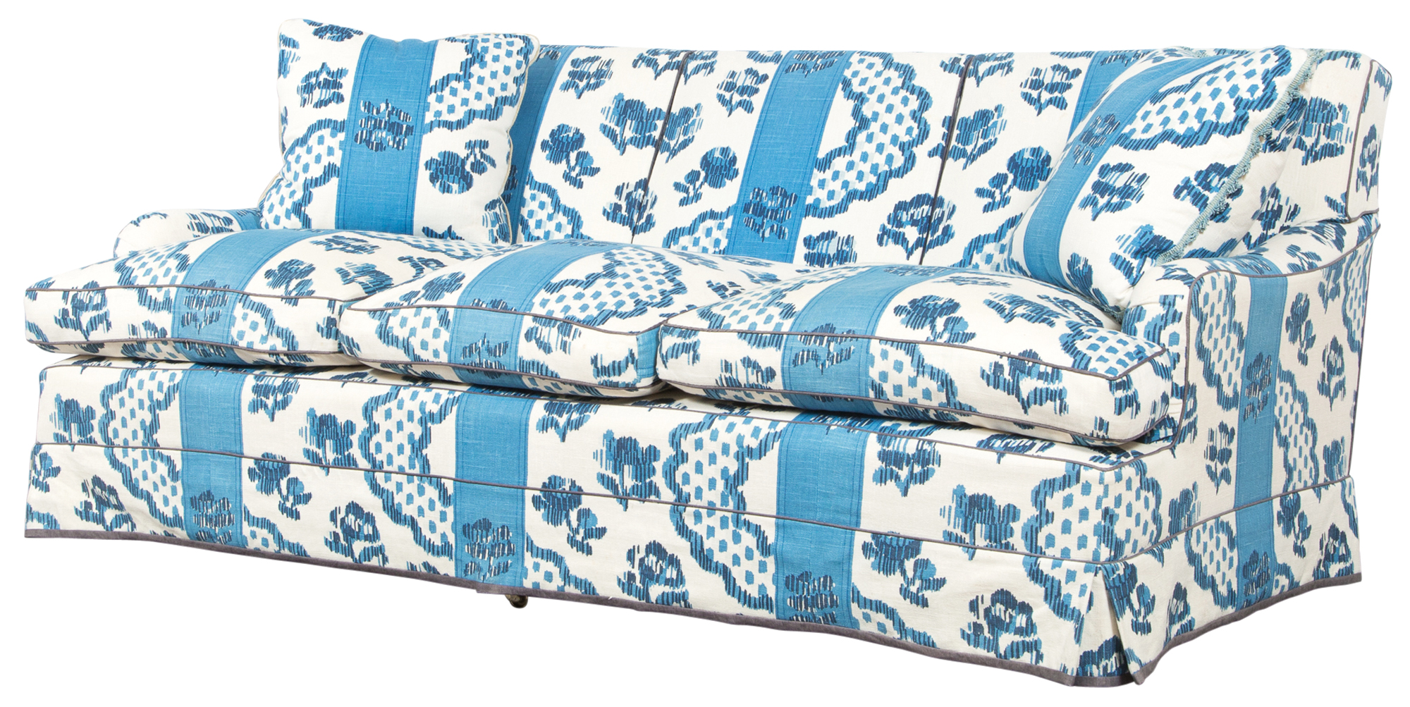 Lot image - Upholstered Loose Cushion Sofa