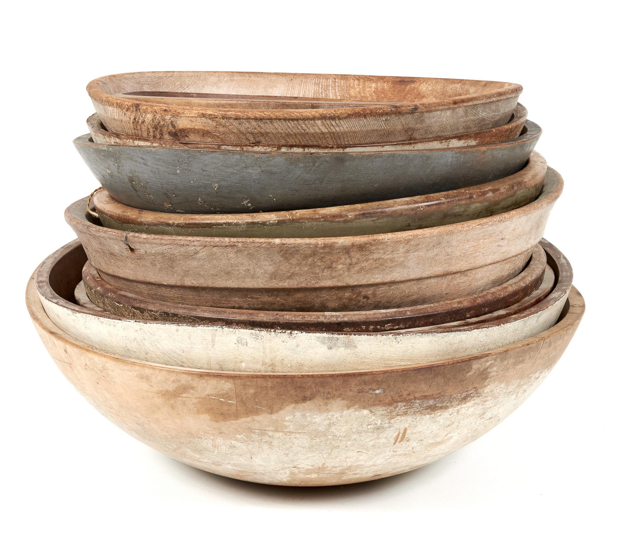 Lot image - Group of Ten Turned Wood Bowls