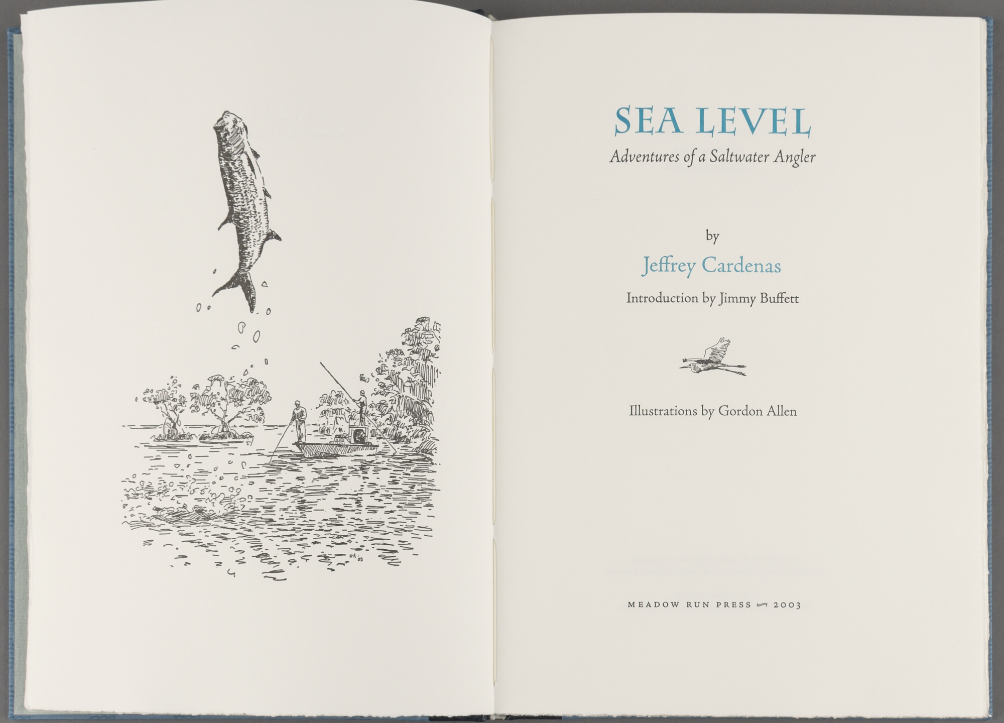 Lot image - CARDENAS, JEFFREY  Sea Level: Adventures of a Saltwater Angler.