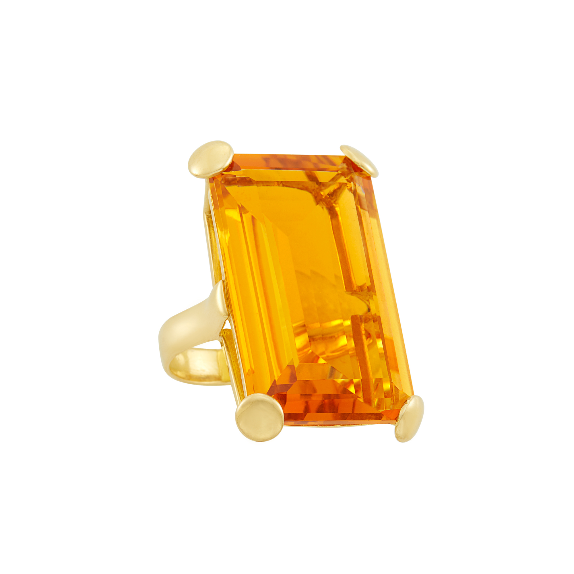 Lot image - Gold and Citrine Ring
