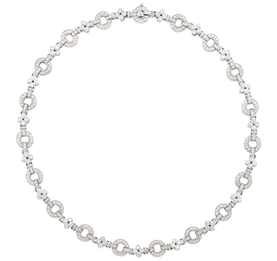 Lot image - White Gold and Diamond Necklace, Judith Ripka