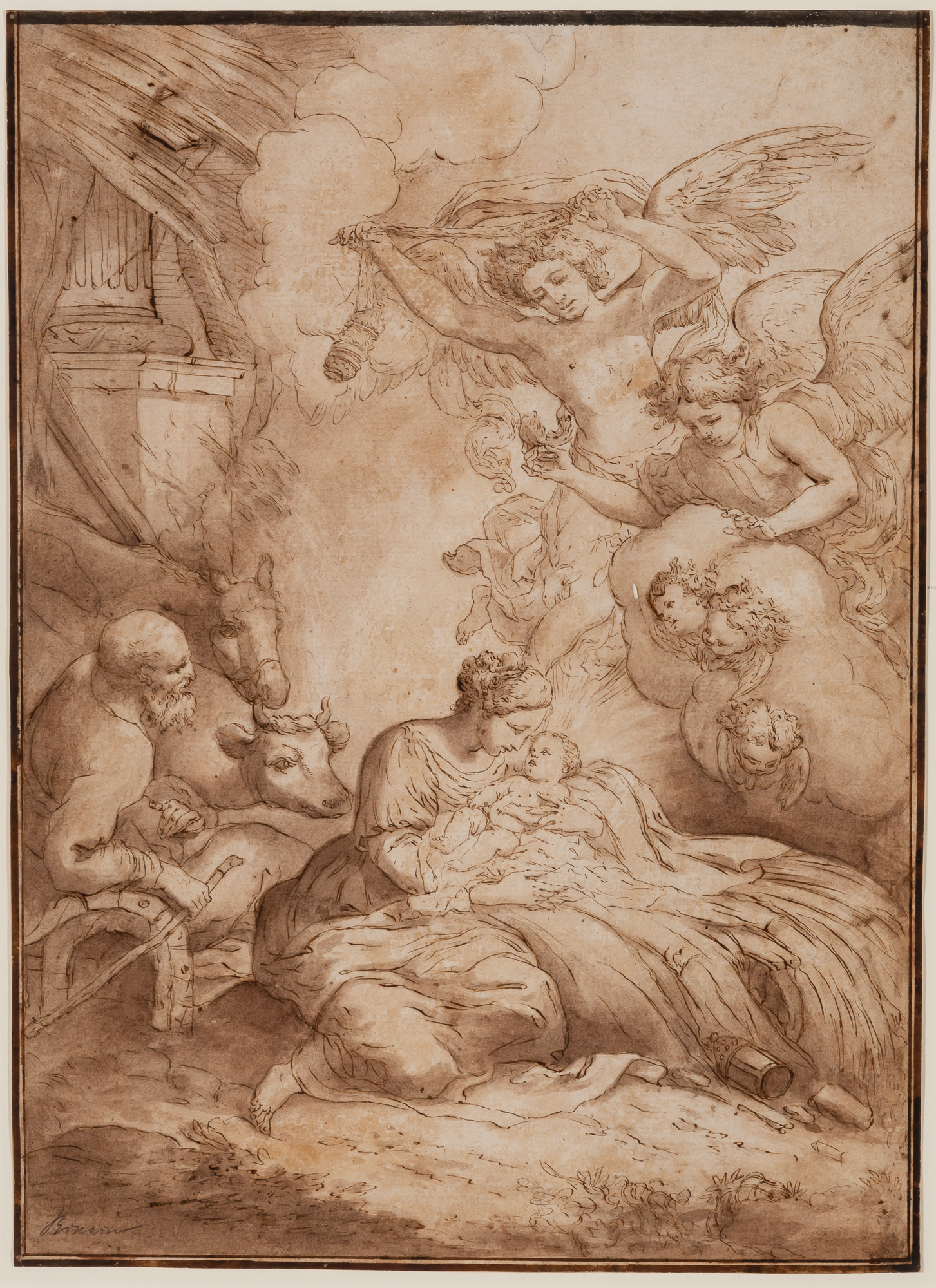 Lot image - Attributed to Bartolommeo Biscaino