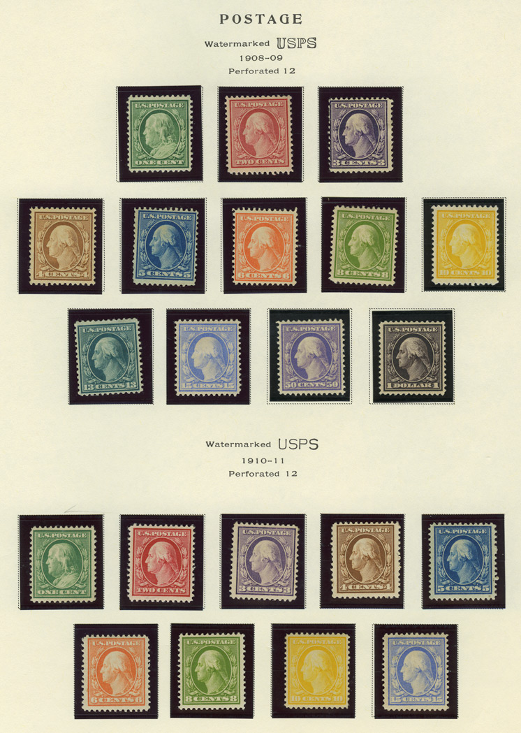 Lot image - United States Washington-Franklin Issues of 1908 to 1921