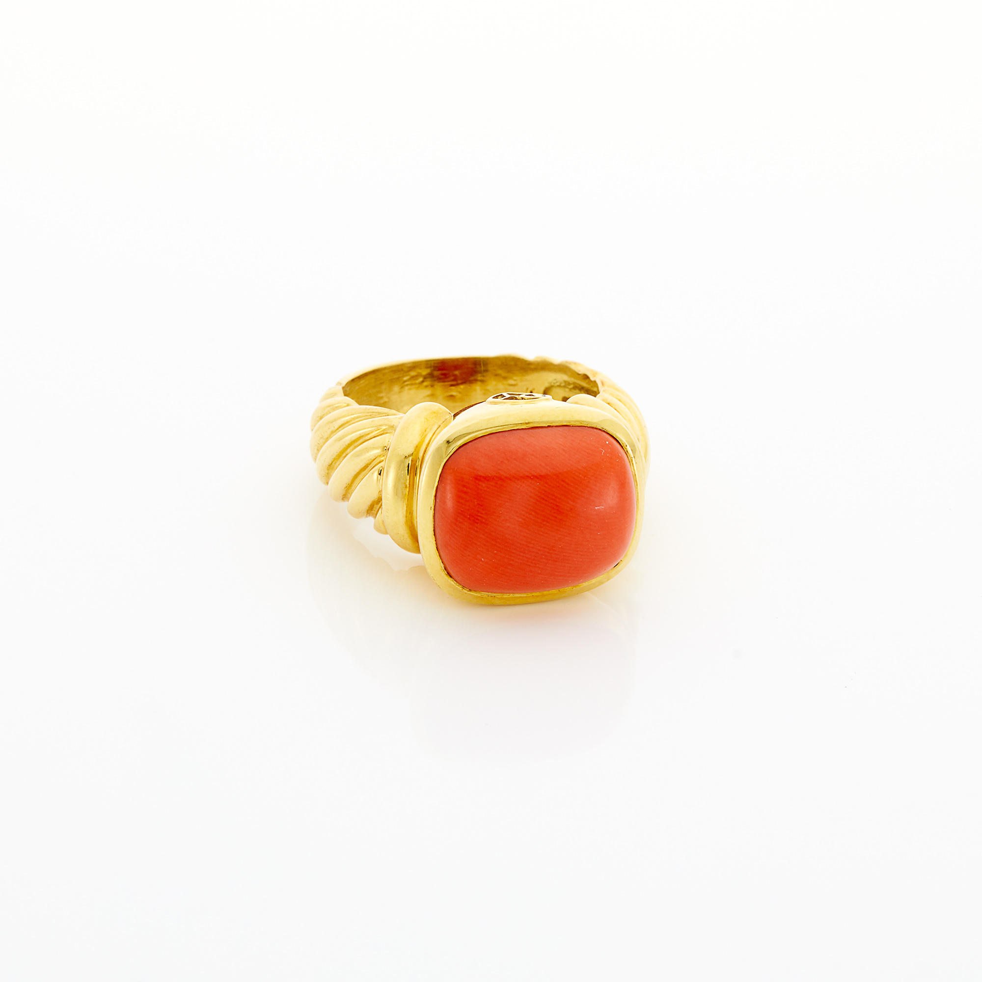 Lot image - Gold and Coral Ring, David Yurman