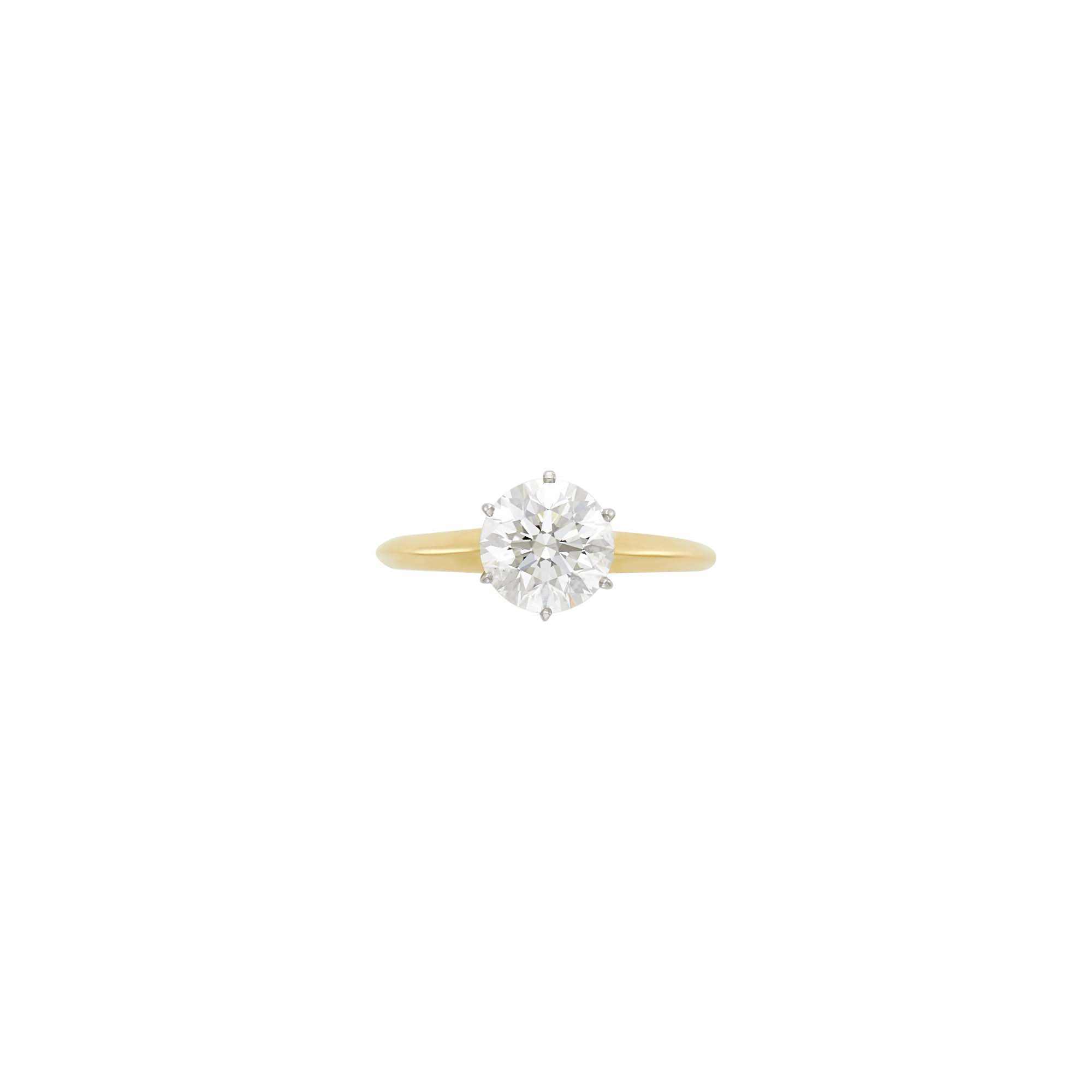 Lot image - Tiffany & Co. Gold, Platinum and Diamond Ring