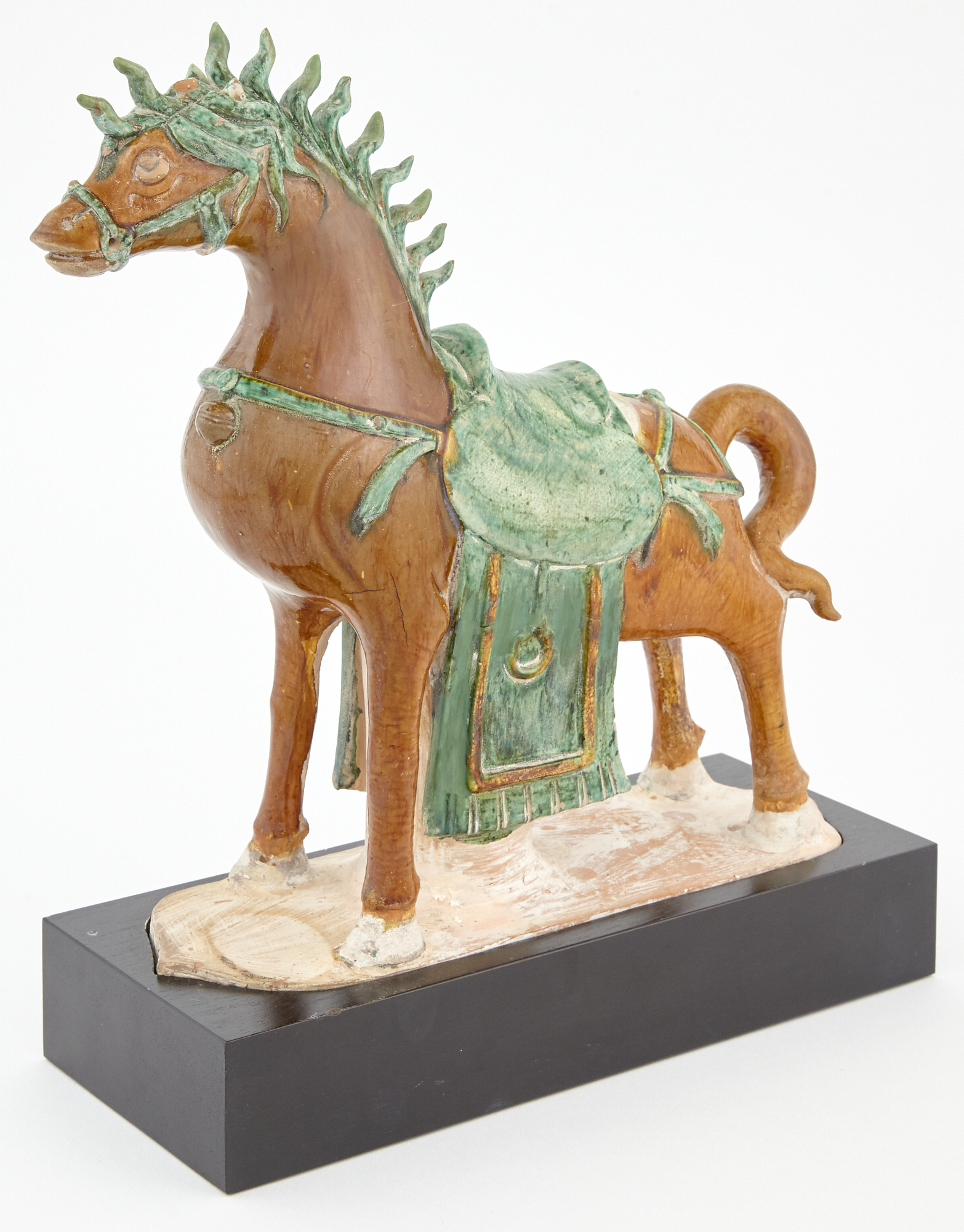 Lot image - Chinese Sancai-Glazed Pottery Figure of a Horse