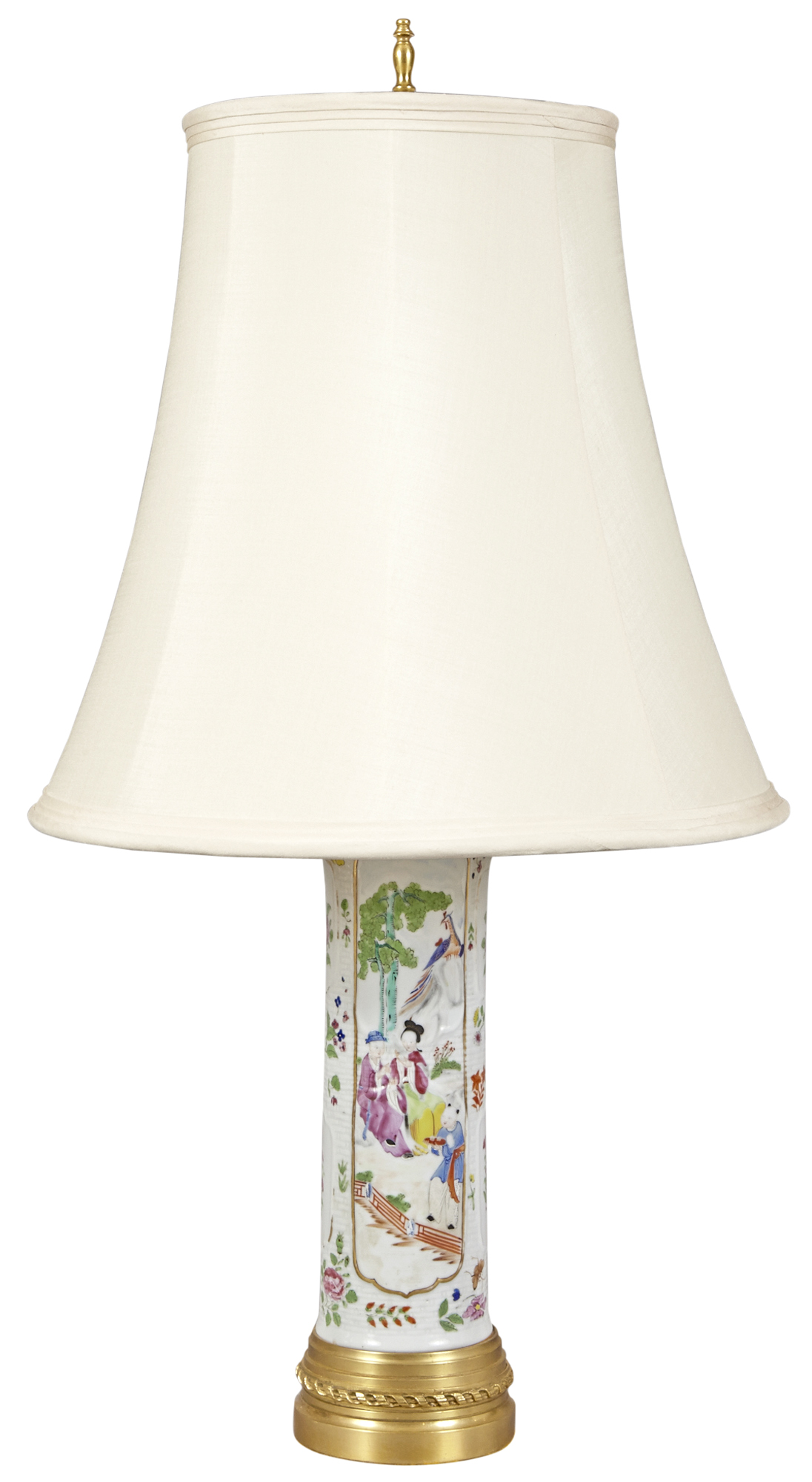 Lot image - Chinese Export Porcelain Lamp