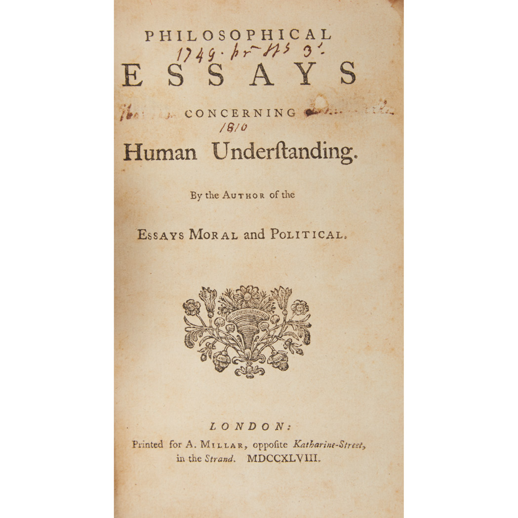 david hume essay on human understanding Abstract: david hume believed he had found an everlasting check against the belief in miracles, useful as long as the world endures careful.