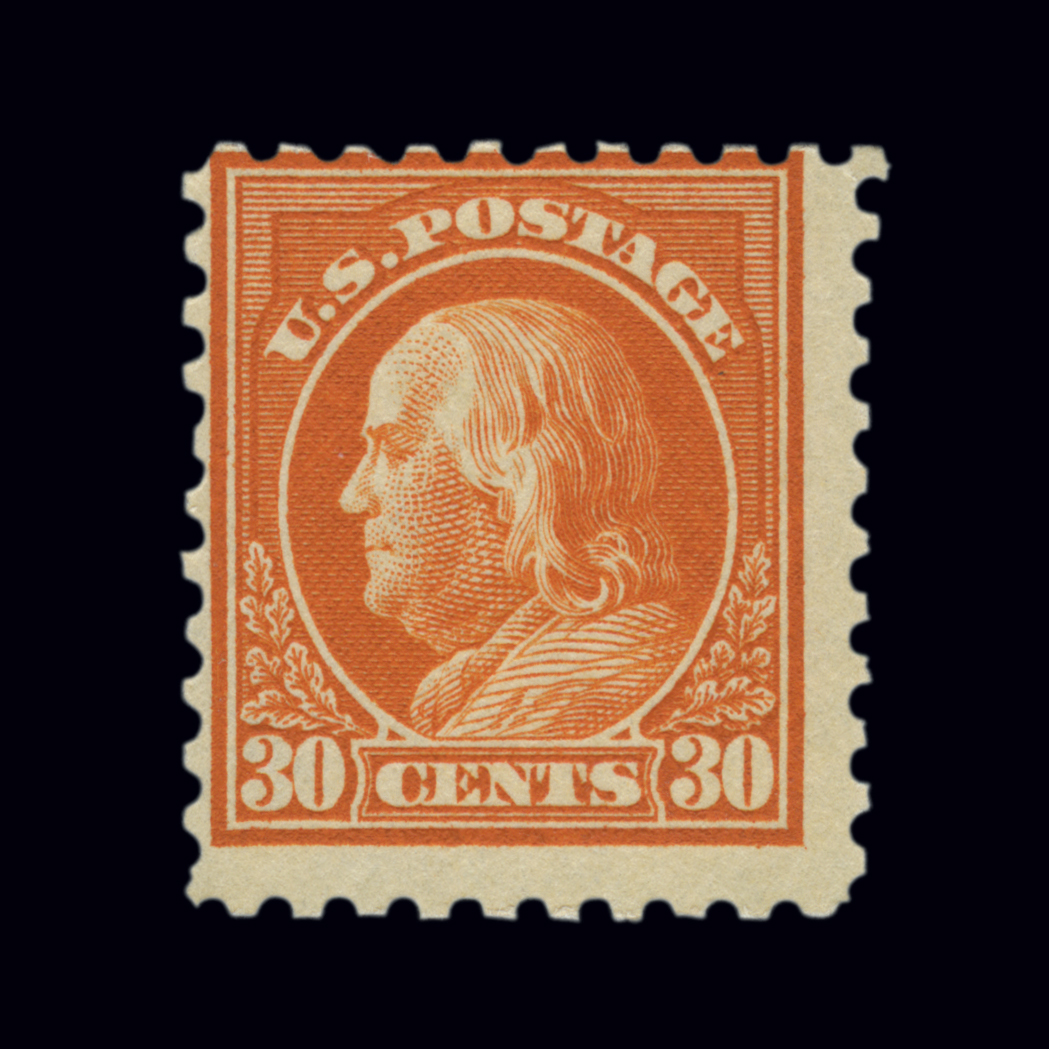 Lot image - United States 1916-17 30 Cents Orange Red, Scott 476A