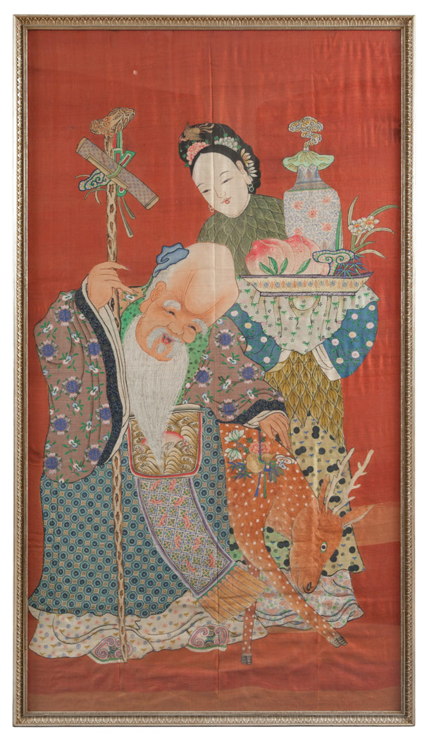 Lot image - Chinese Woven Silk Kesi Panel