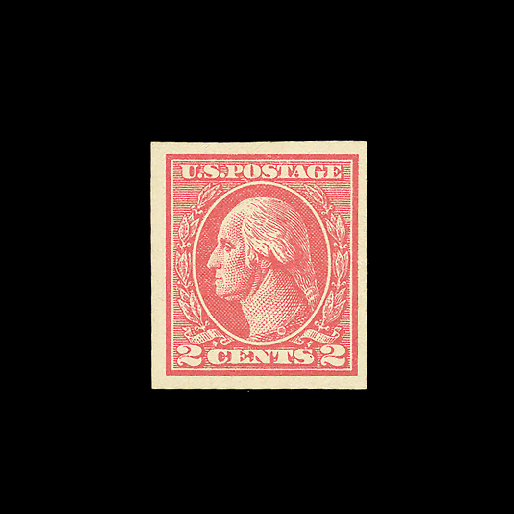 Lot image - United States 1920 Two Cents Imperforate Type VII, Scott 534B
