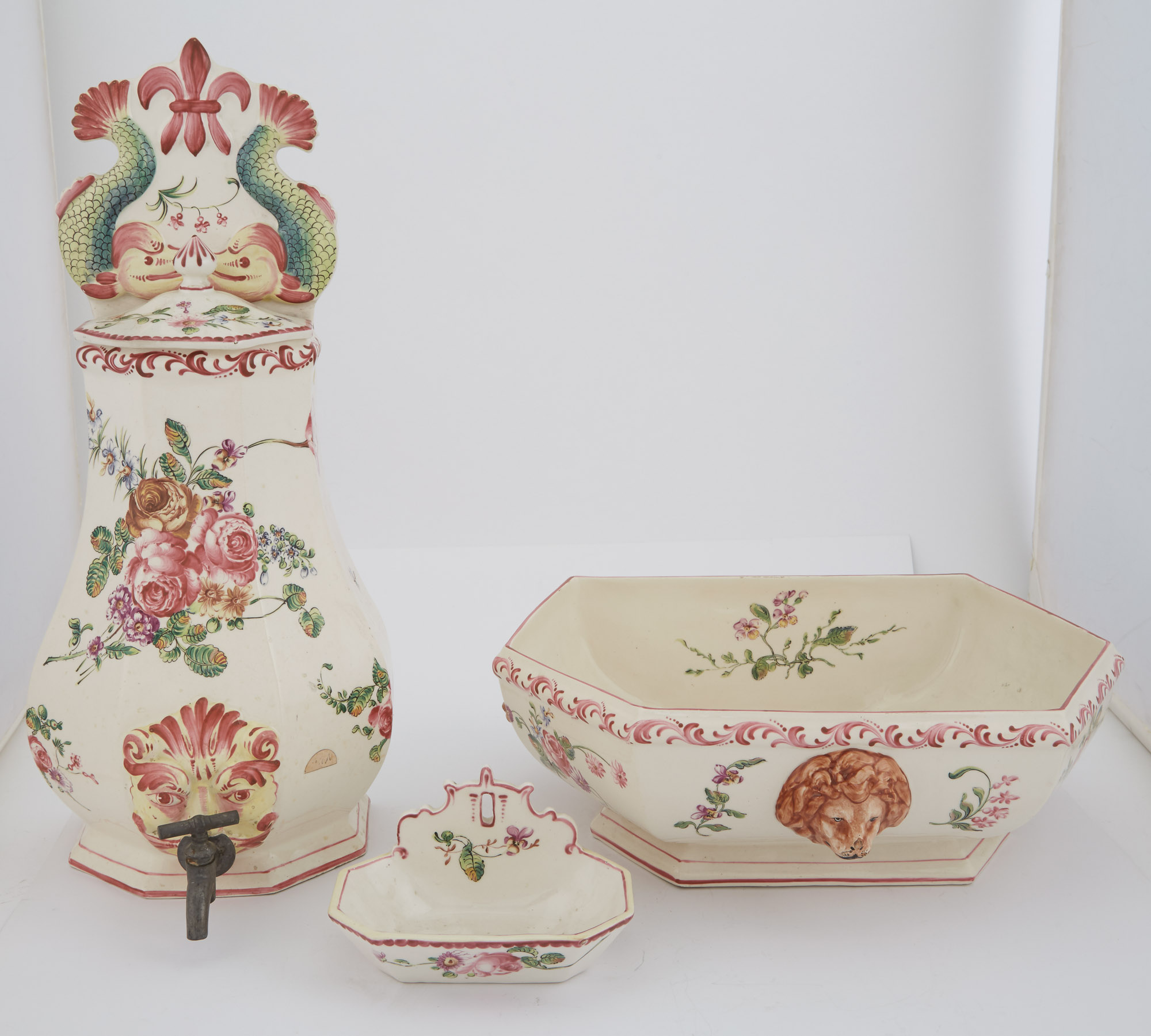 Lot image - French Faience Lavabo
