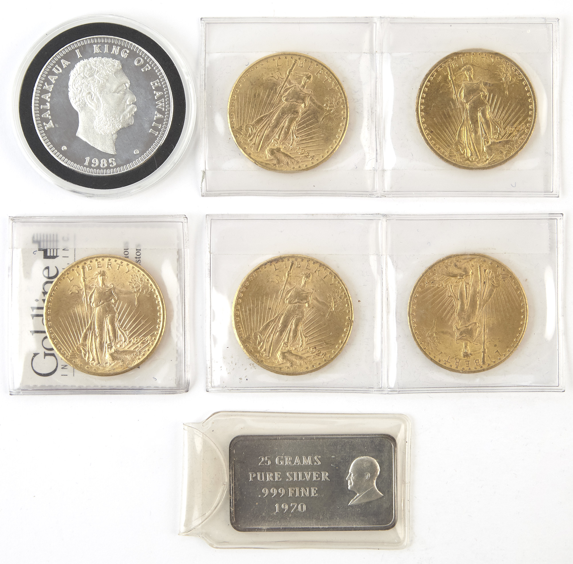 Lot image - United States Gold and Silver Coins