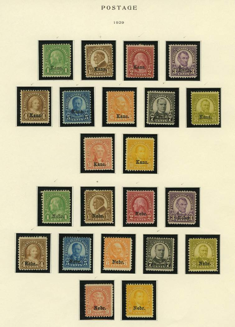 Lot image - United States Definitive Issues 1922 to 1965