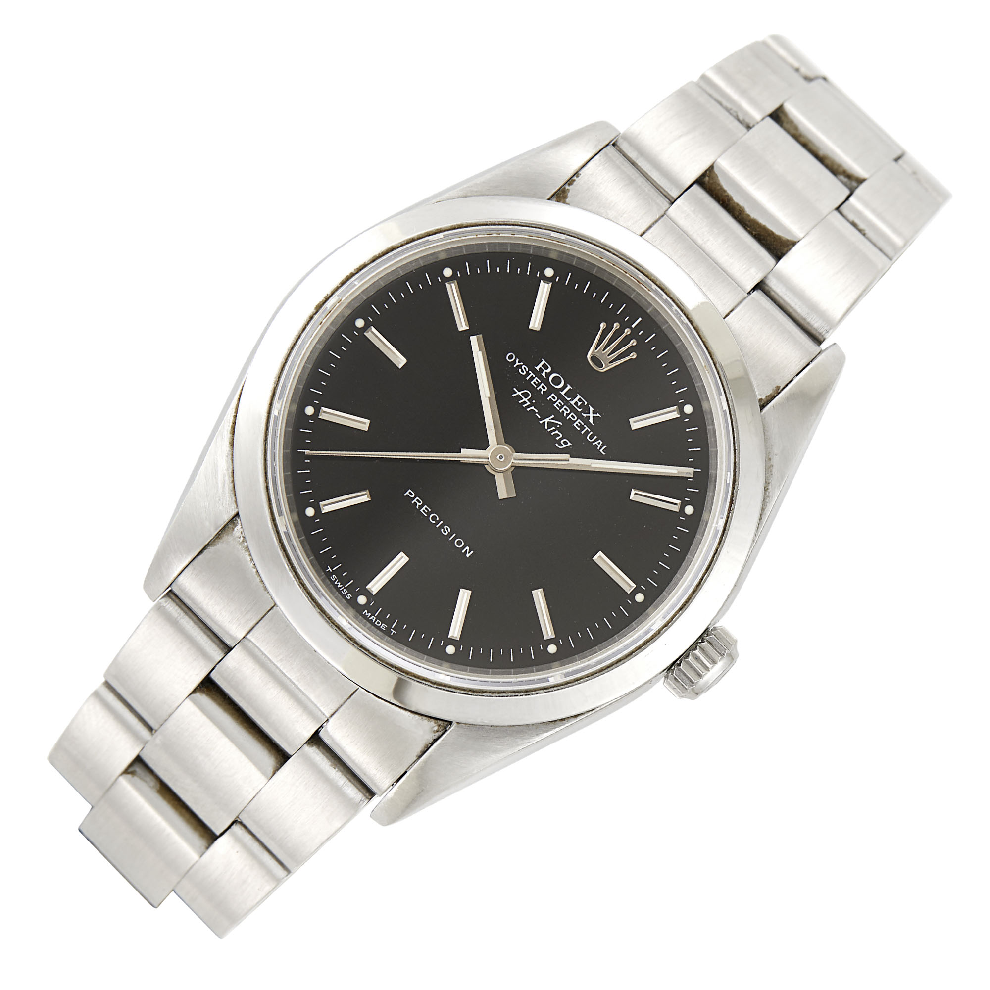 Lot image - Rolex Stainless Steel Oyster Perpetual Air-King Wristwatch, Ref. 14000