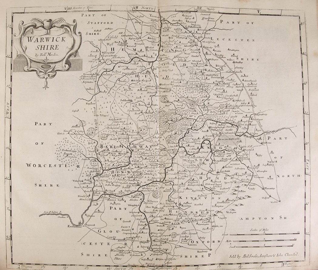Lot image - CAMDEN, WILLIAM [GIBSON, Edward-trans.]  Britannia: Or A Chorographical Description of Great Britain and Ireland. Together with the adjacent lands...