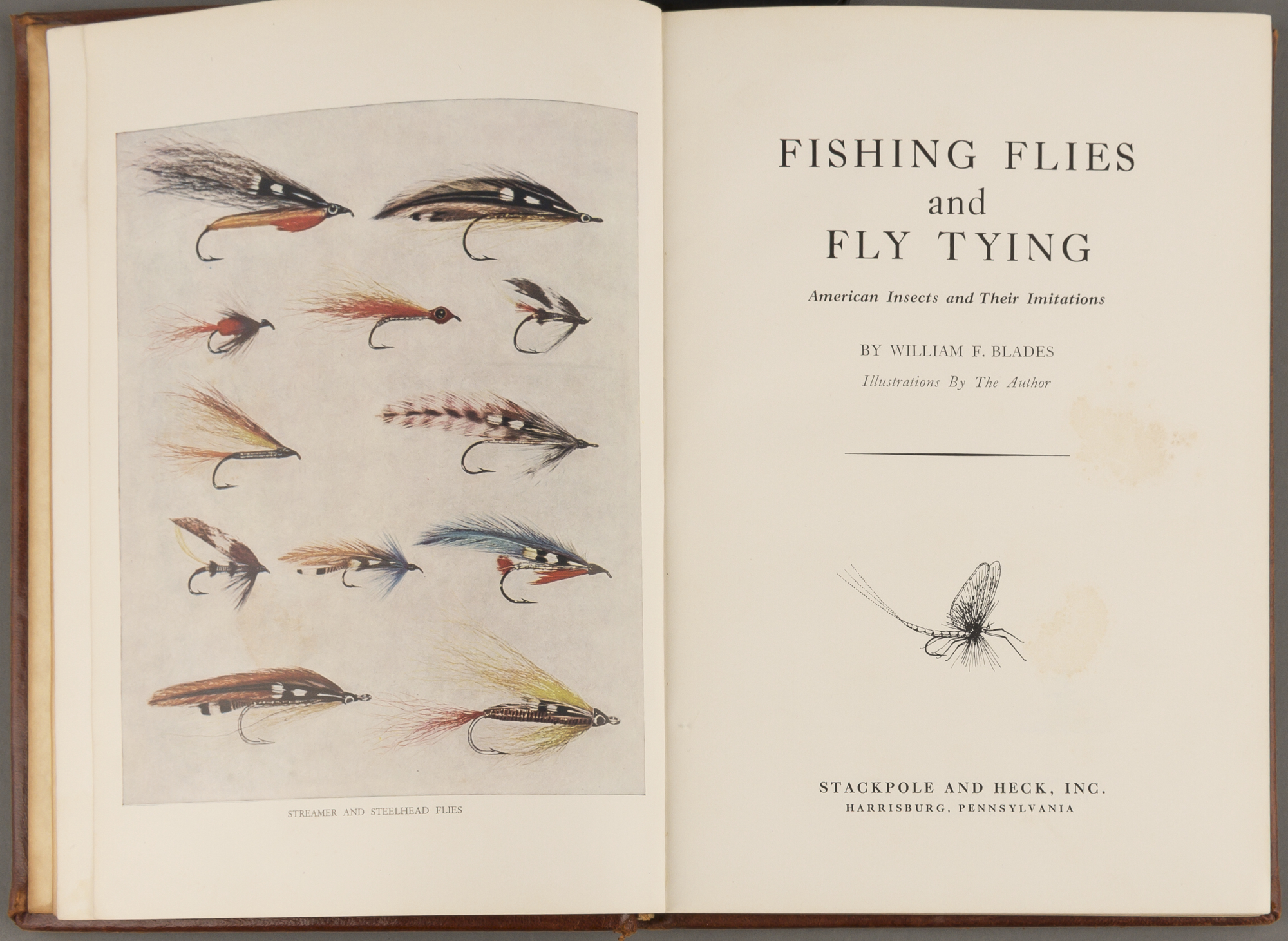 Lot image - BLADES, WILLIAM F.  Fishing Flies and Fly Tying: American Insects and Their Limitations.