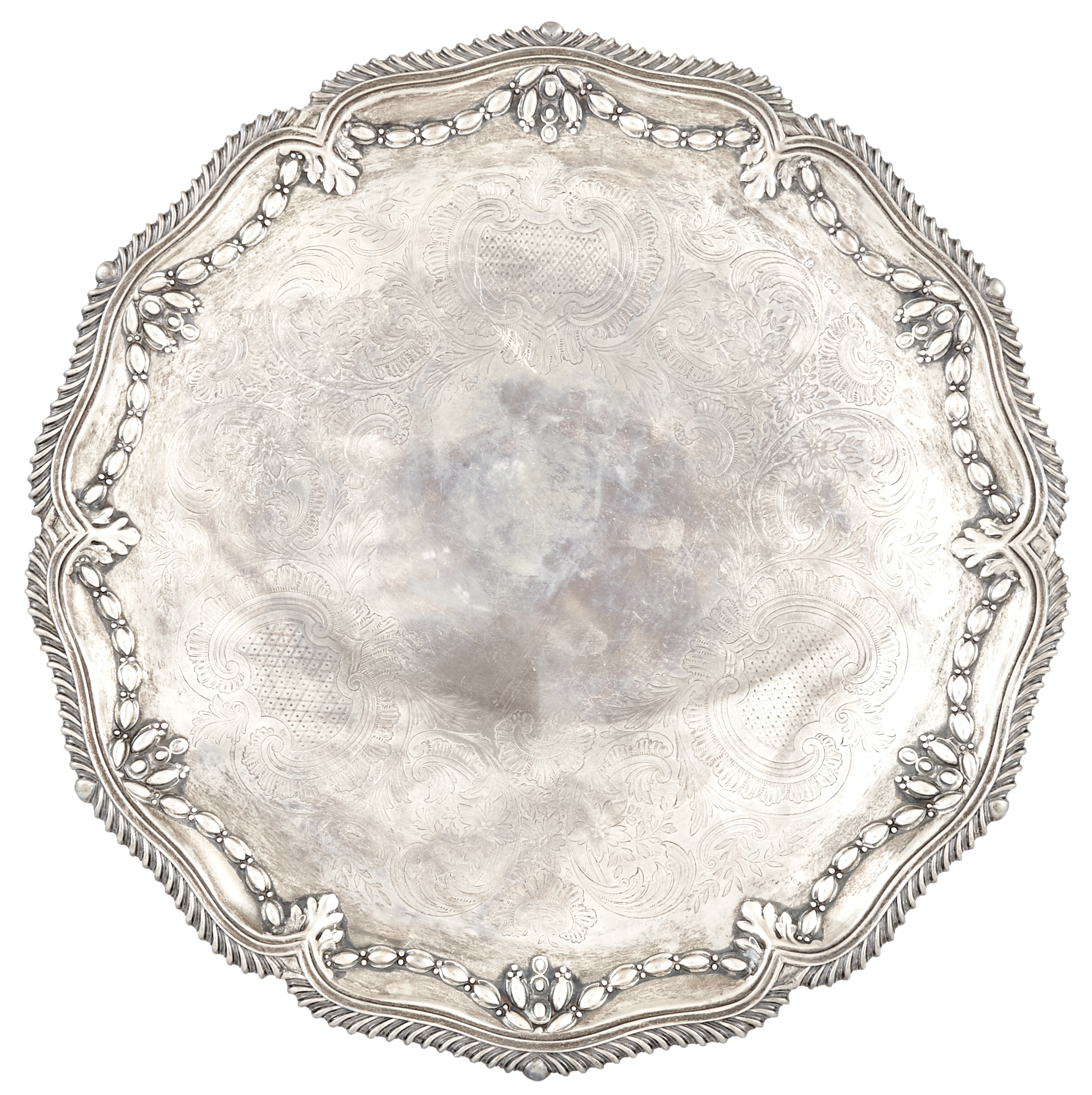 Lot image - Victorian Sterling Silver Salver
