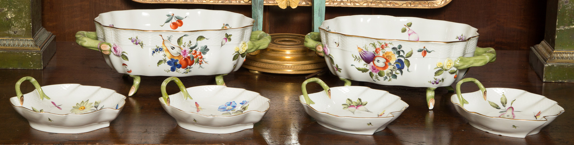 Lot image - Group of Herend Porcelain Tableware