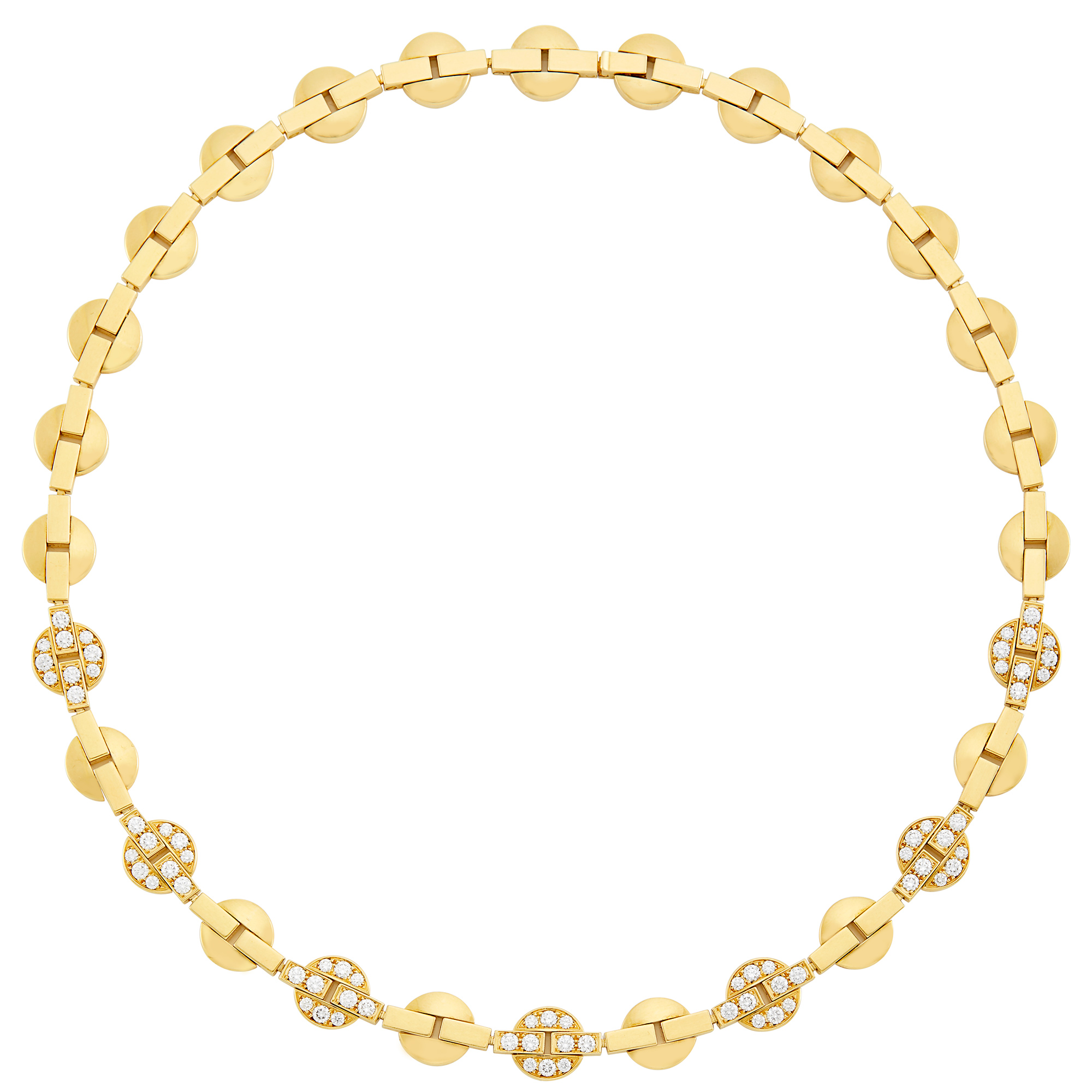 Lot image - Gold and Diamond Necklace, Cartier