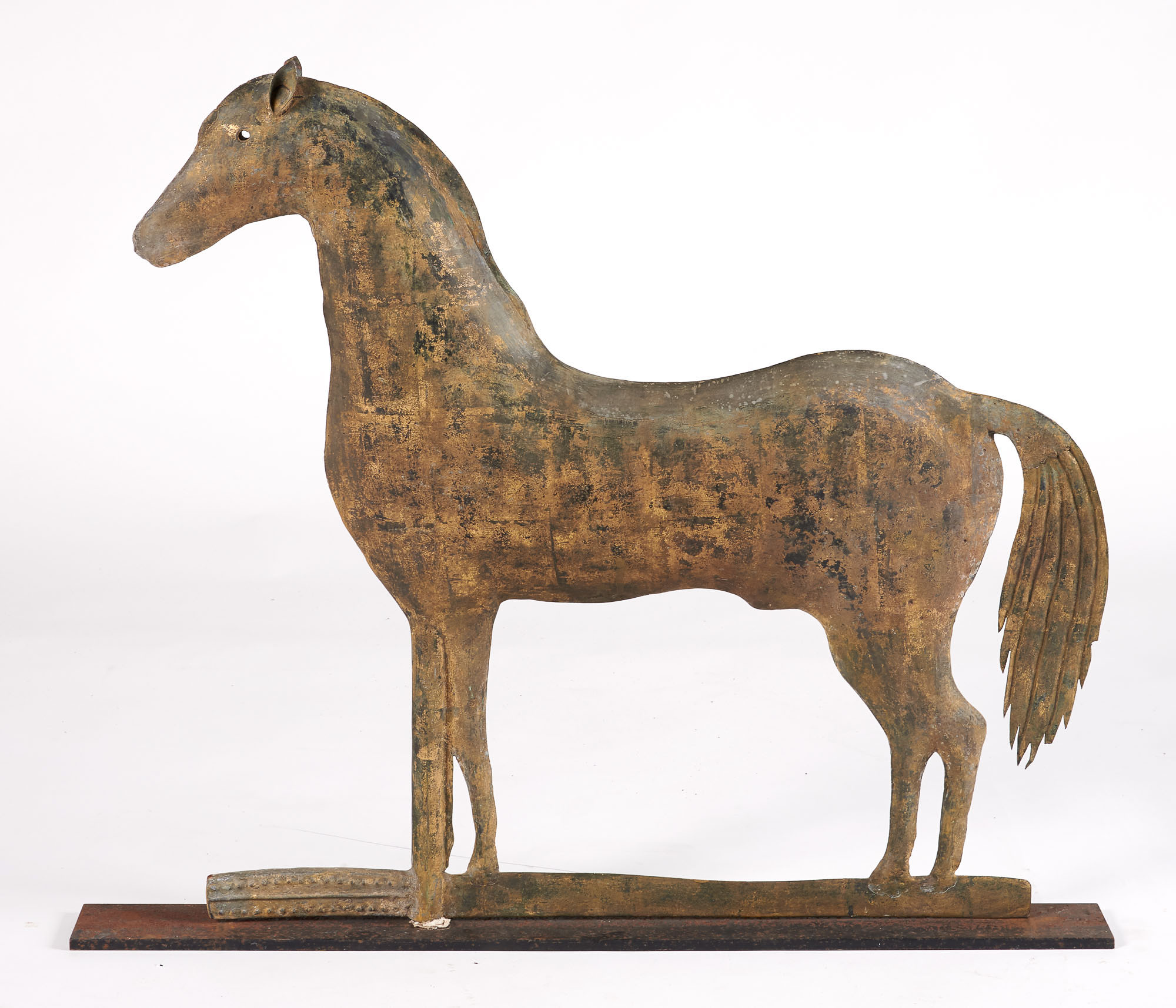 Lot image - Gilt Metal Standing Horse Weathervane