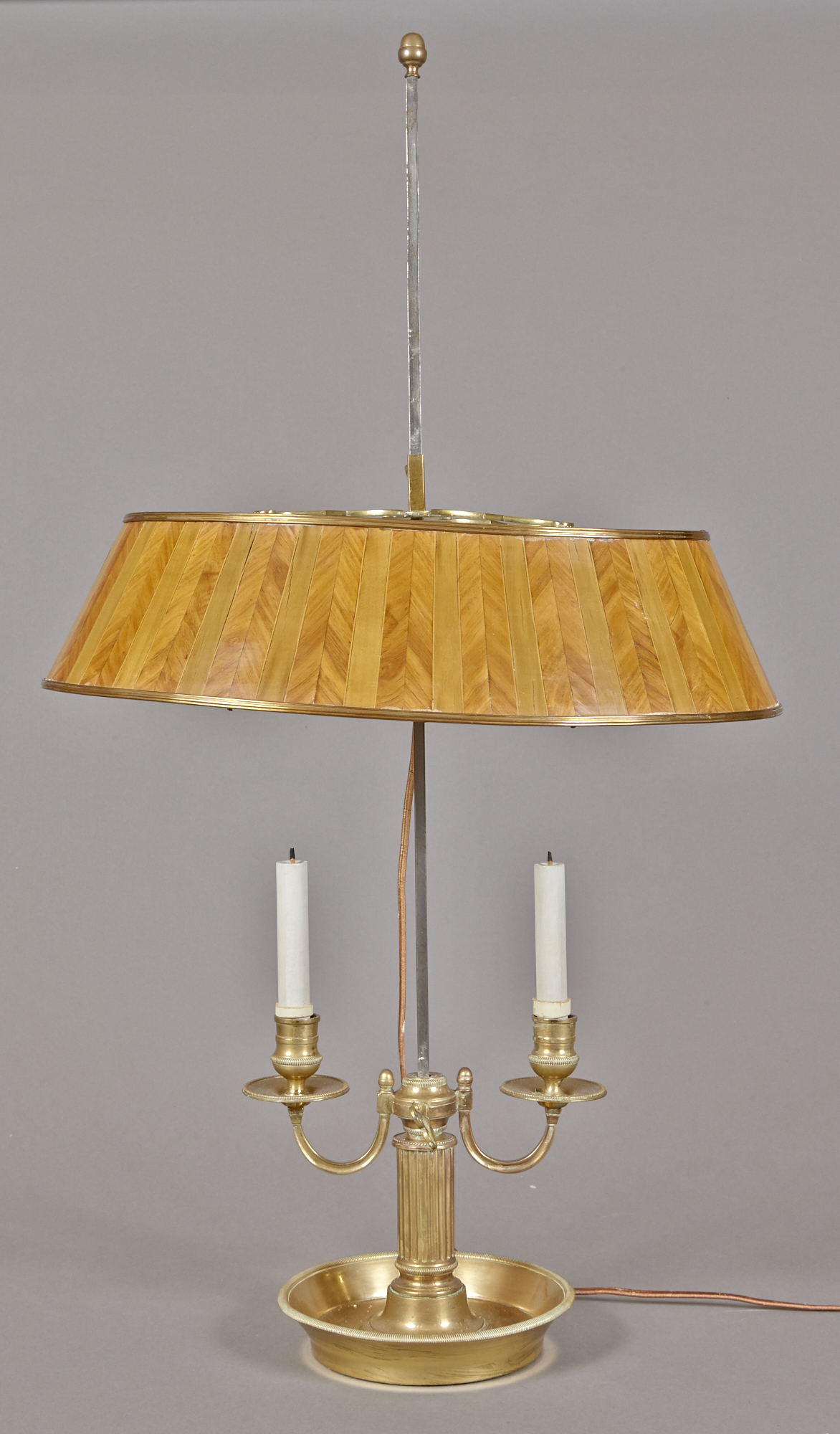 Lot image - Louis XVI Style Gilt Bronze Bouillotte Lamp