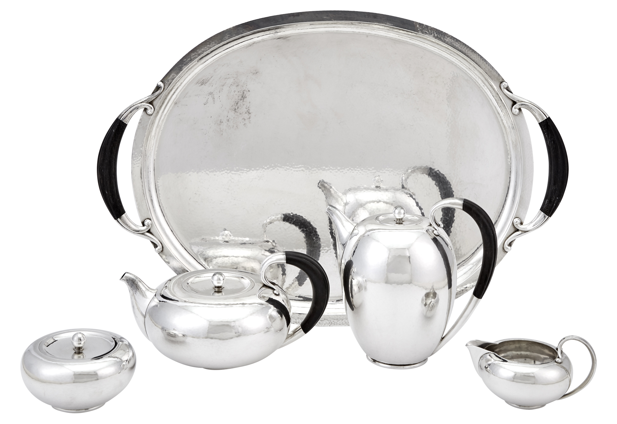 Lot image - Georg Jensen Sterling Silver Tea and Coffee Service and Tray