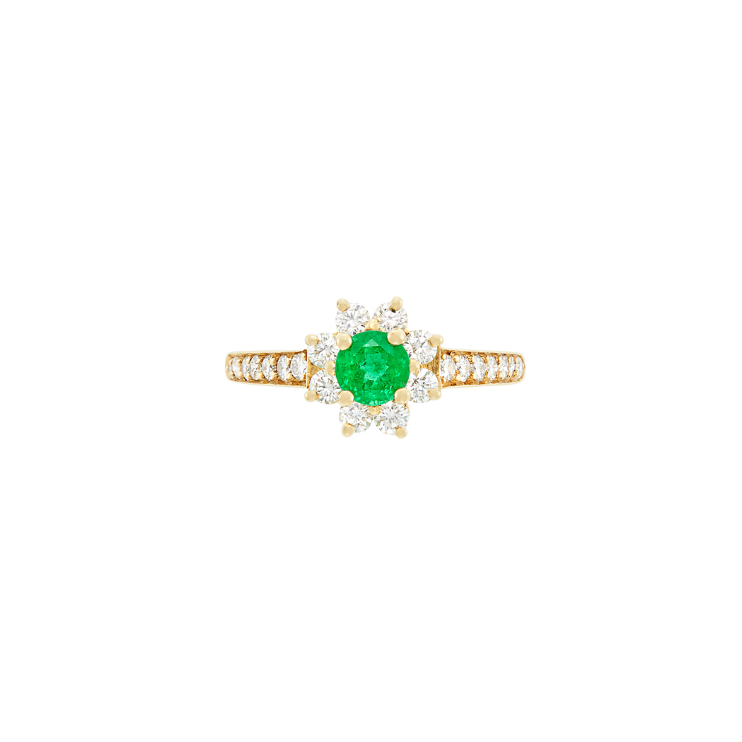 Lot image - Gold, Emerald and Diamond Ring, Tiffany & Co.