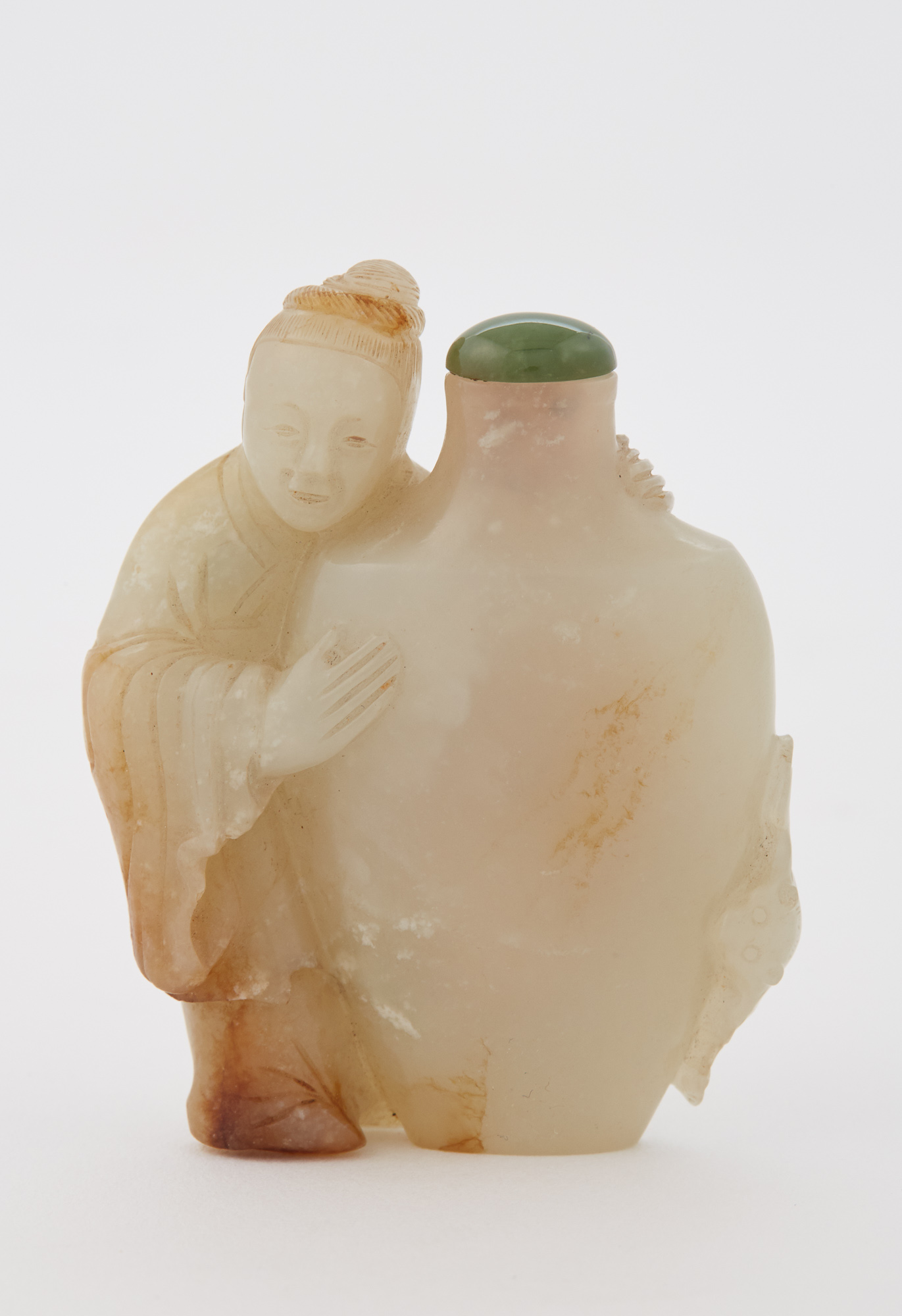 Lot image - Chinese Celadon Jade Snuff Bottle