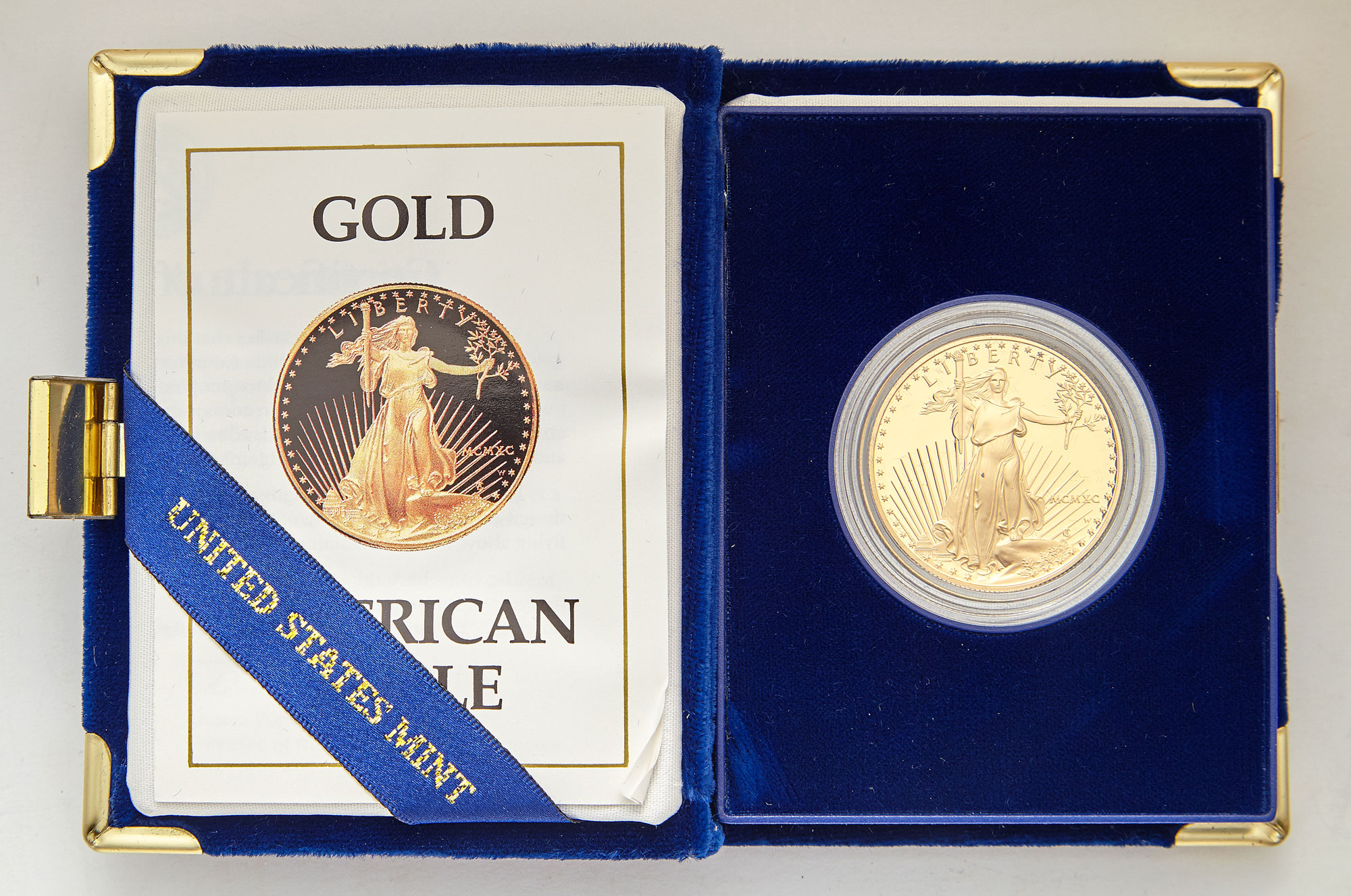 Lot image - United States Three One Ounce Gold Eagle Proofs