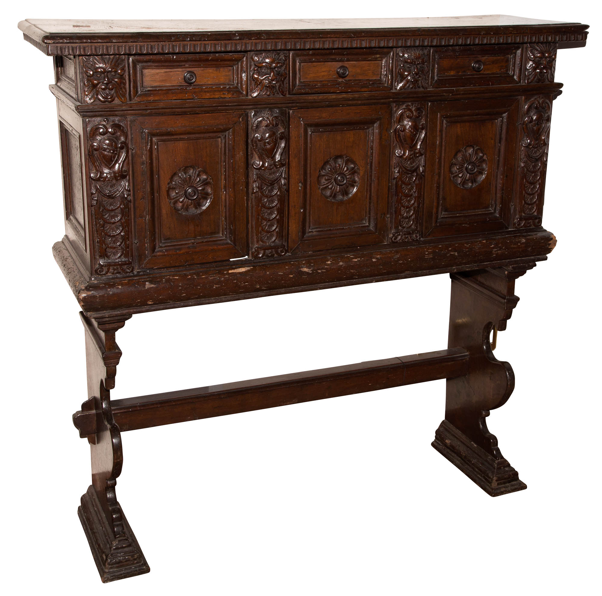 Lot image - Italian Walnut Chest on Stand