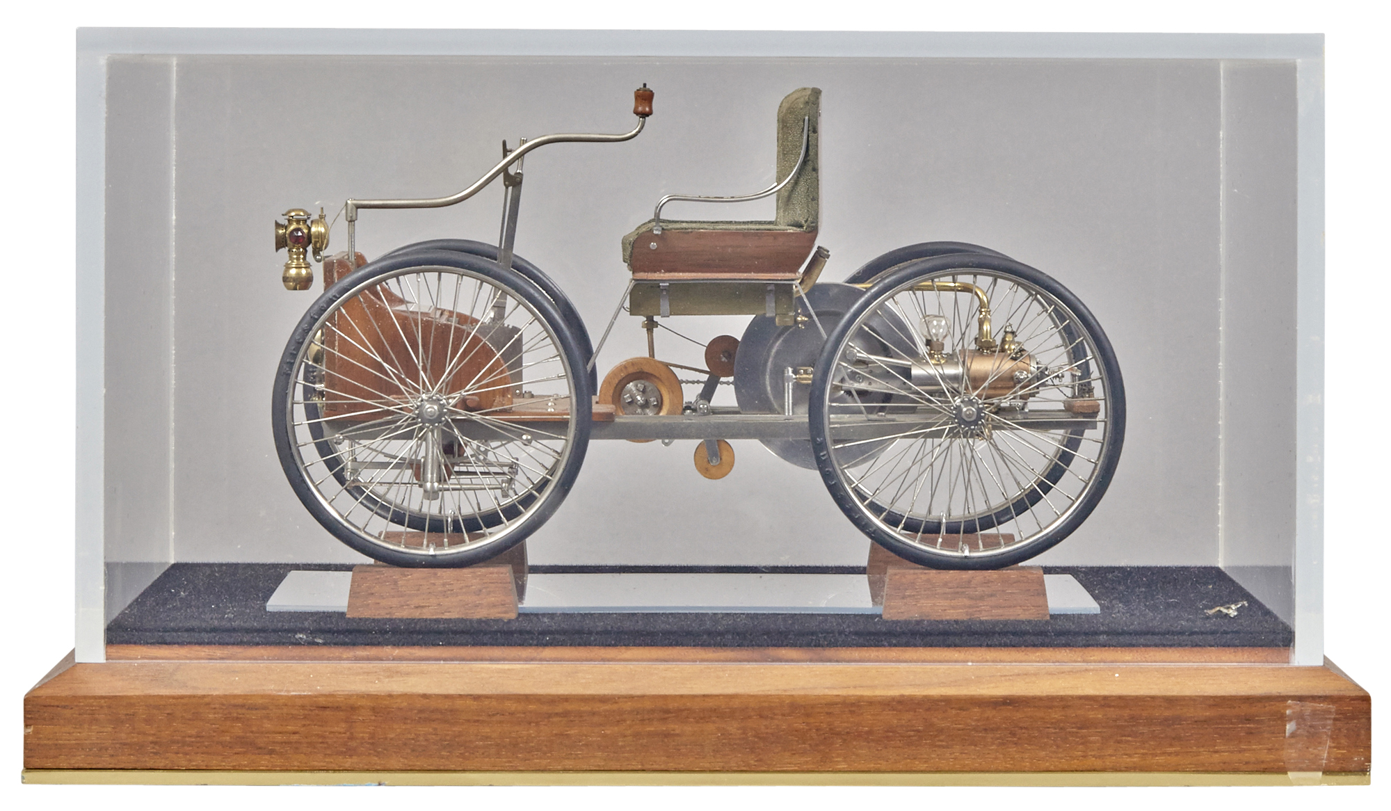 Lot image - Wood and Metal Model of an Early Automobile
