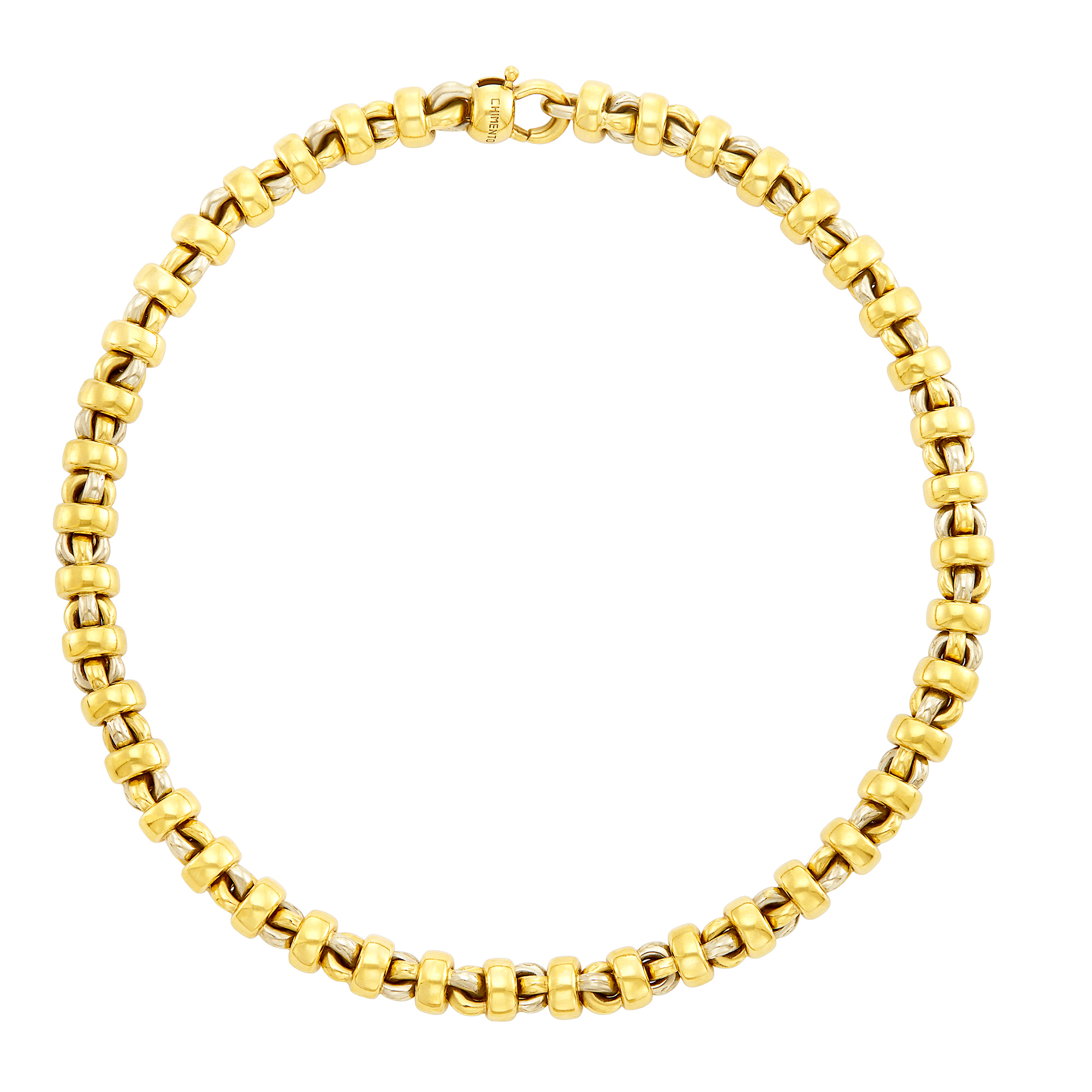 Lot image - Two-Color Gold Necklace, Chimento