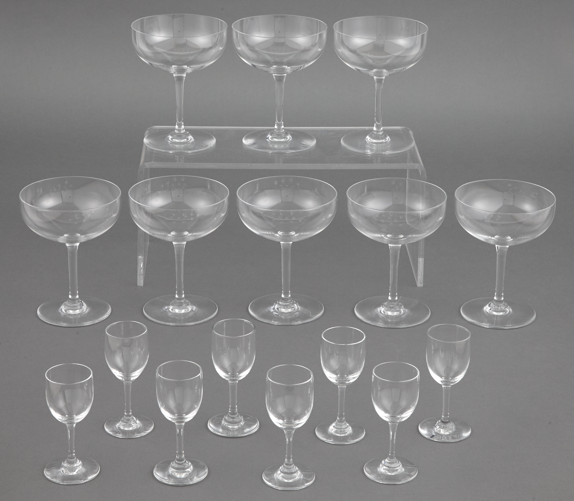 Lot image - Baccarat Glass Partial Stemware Service
