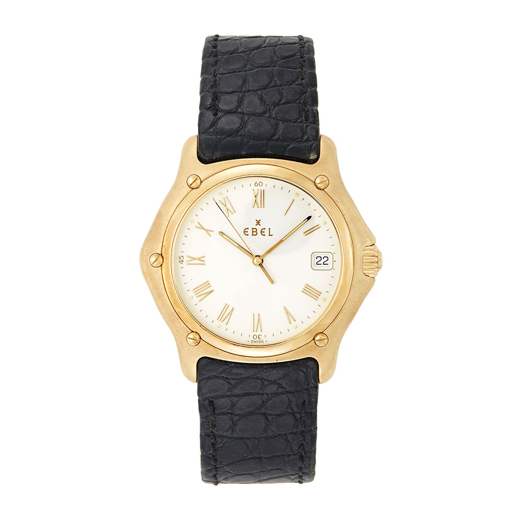 Lot image - Gentleman's Gold Wristwatch, Ebel