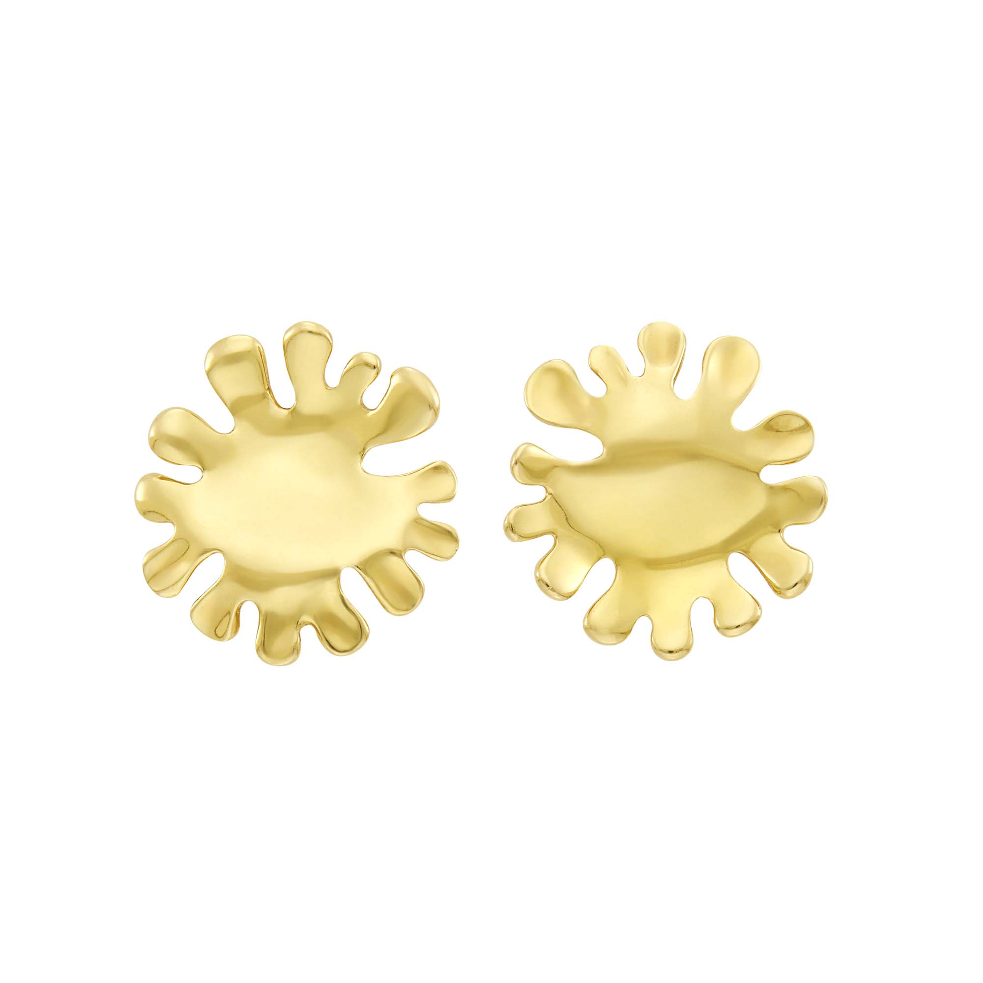 Lot image - Tiffany & Co. Pair of Gold Splash Earclips