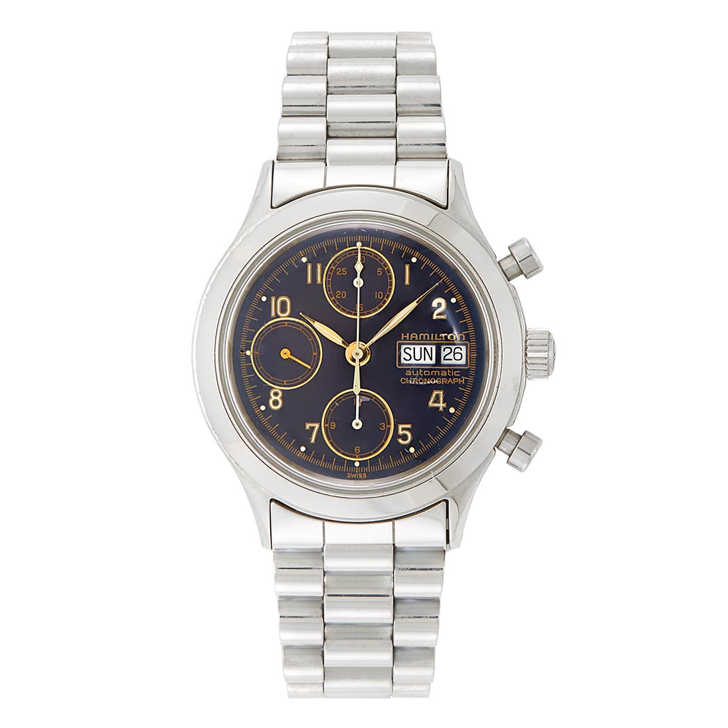 Lot image - Gentleman's Stainless Steel Wristwatch, Hamilton