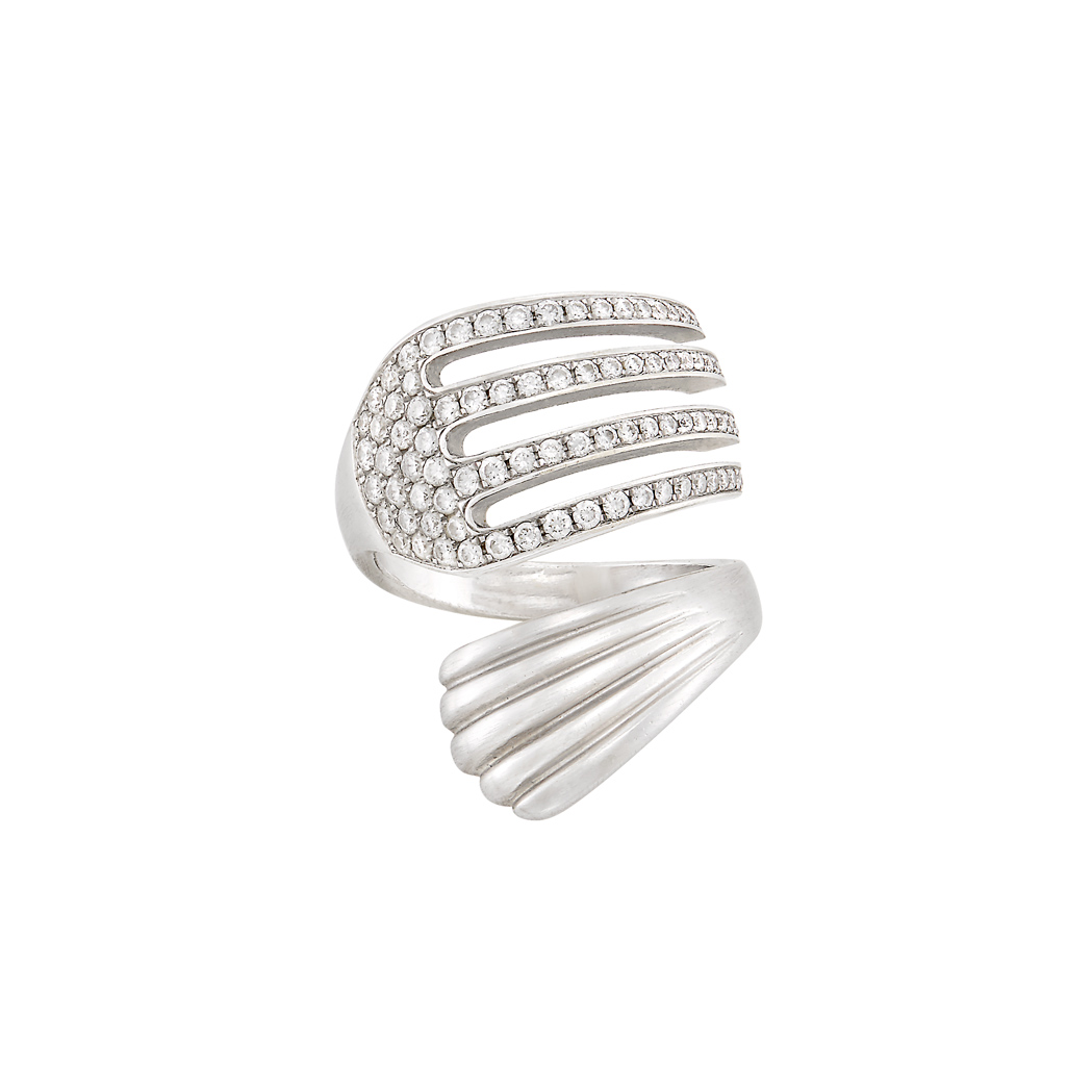 Lot image - White Gold and Diamond Fork Ring