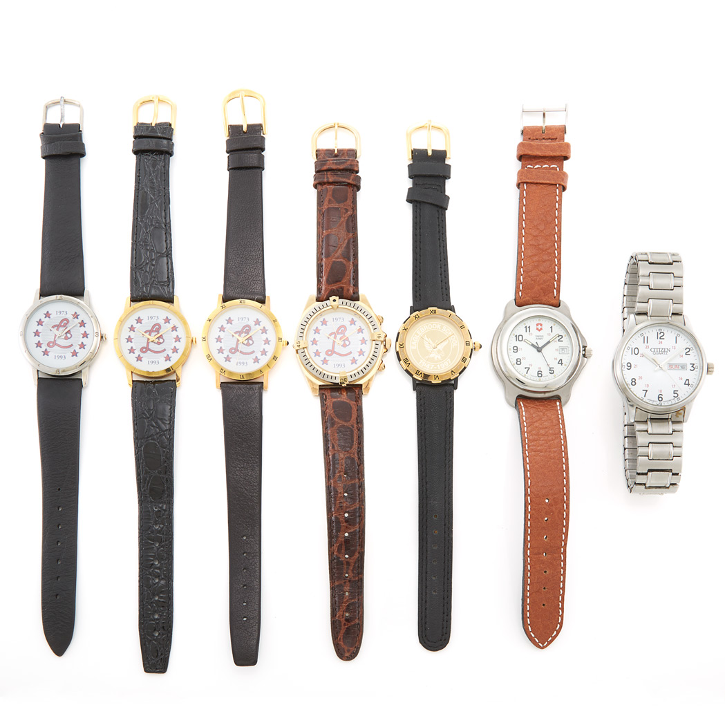 Lot image - Seven Wristwatches
